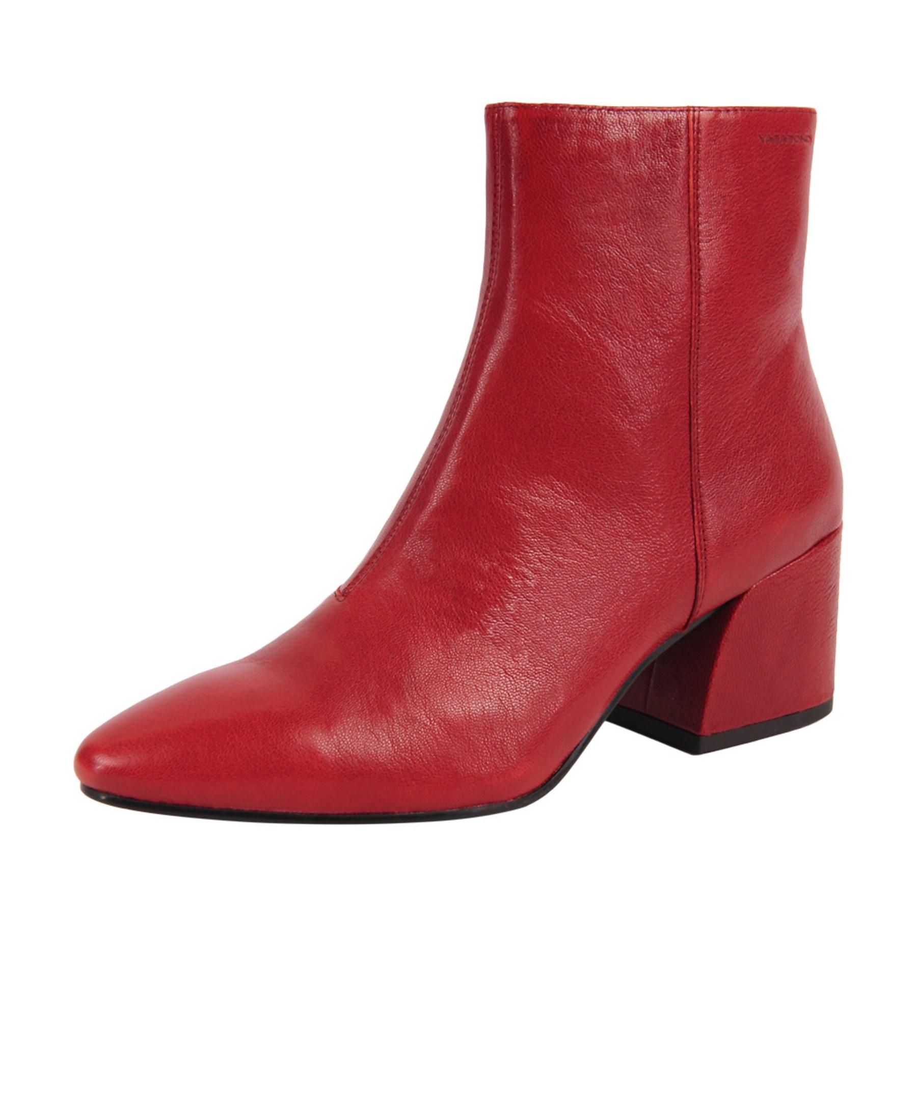 Vagabond Olivia Boots In Red