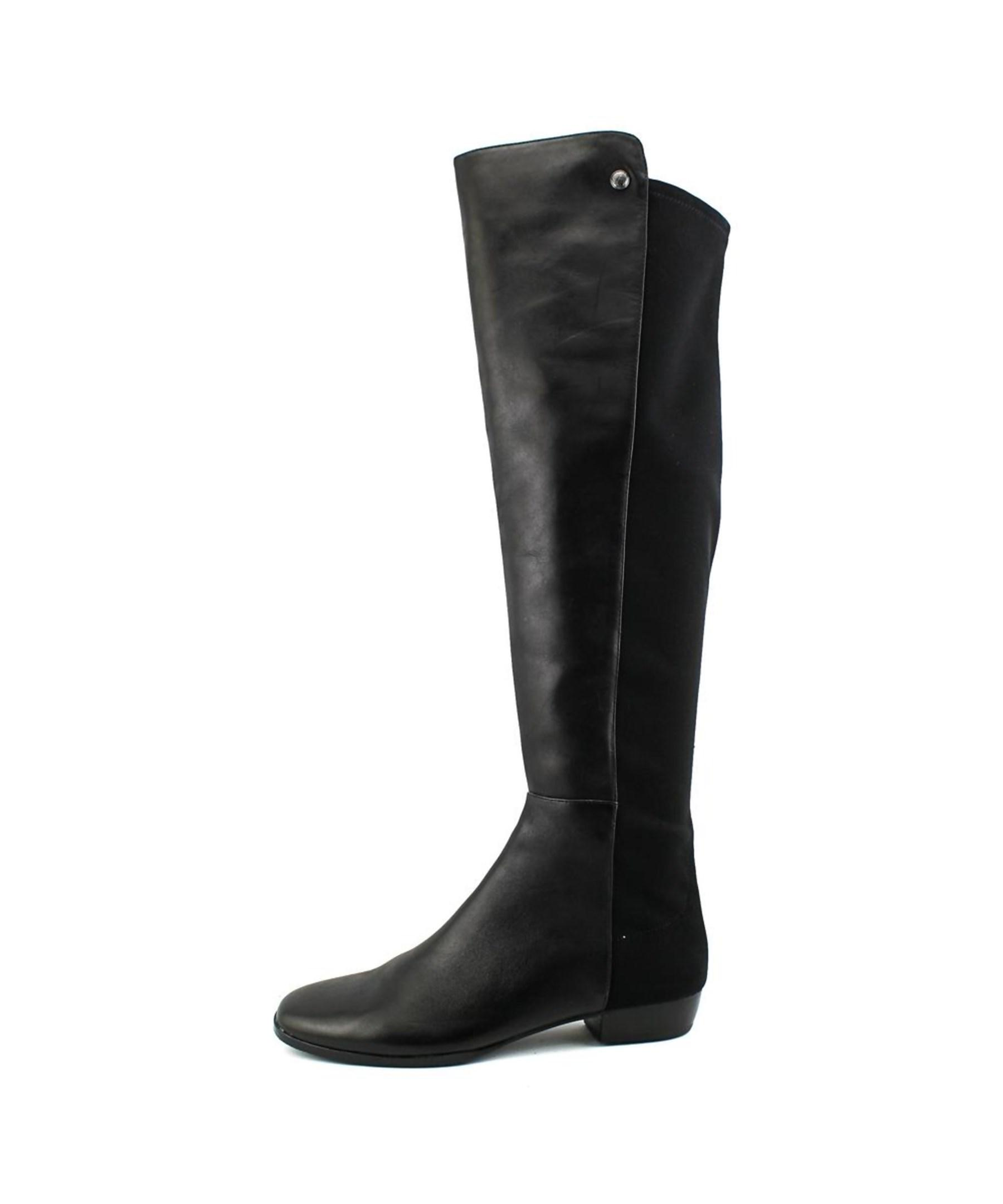 Vince Camuto Lattey Tall Suede Combo Boots In Black Lyst