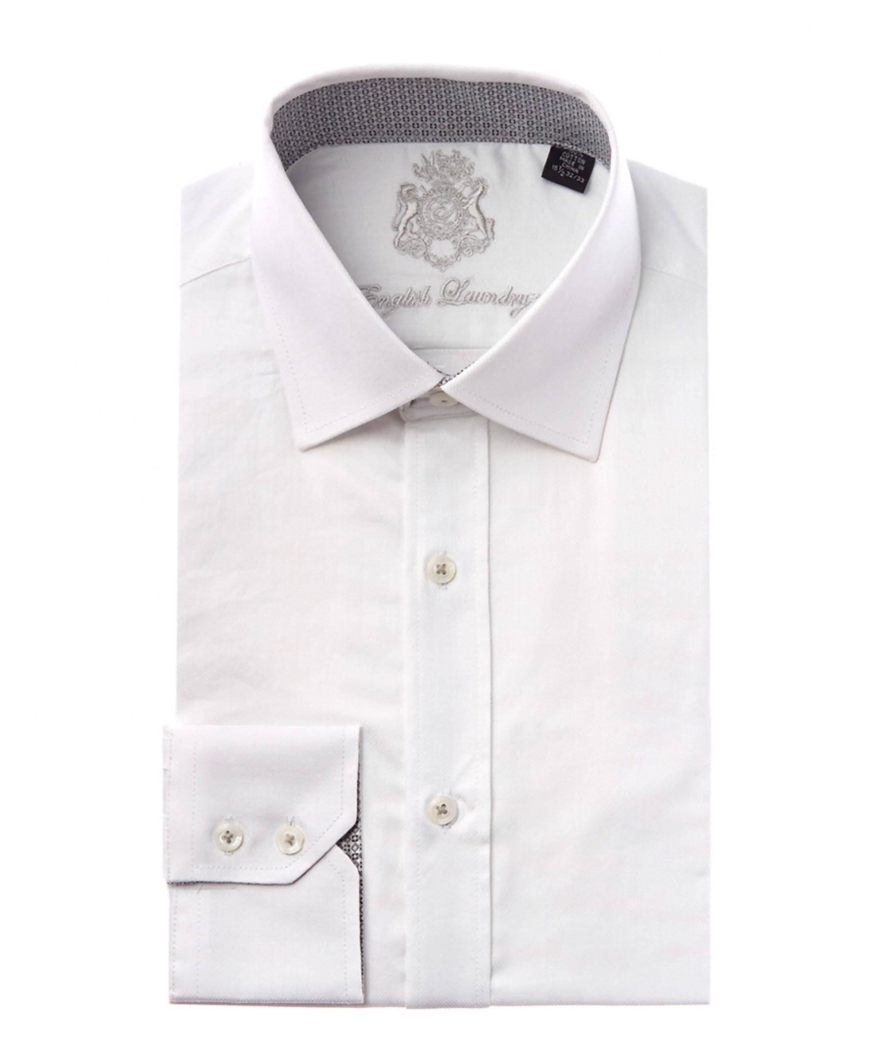 English laundry white herringbone dress shirt in red for for White herringbone dress shirt