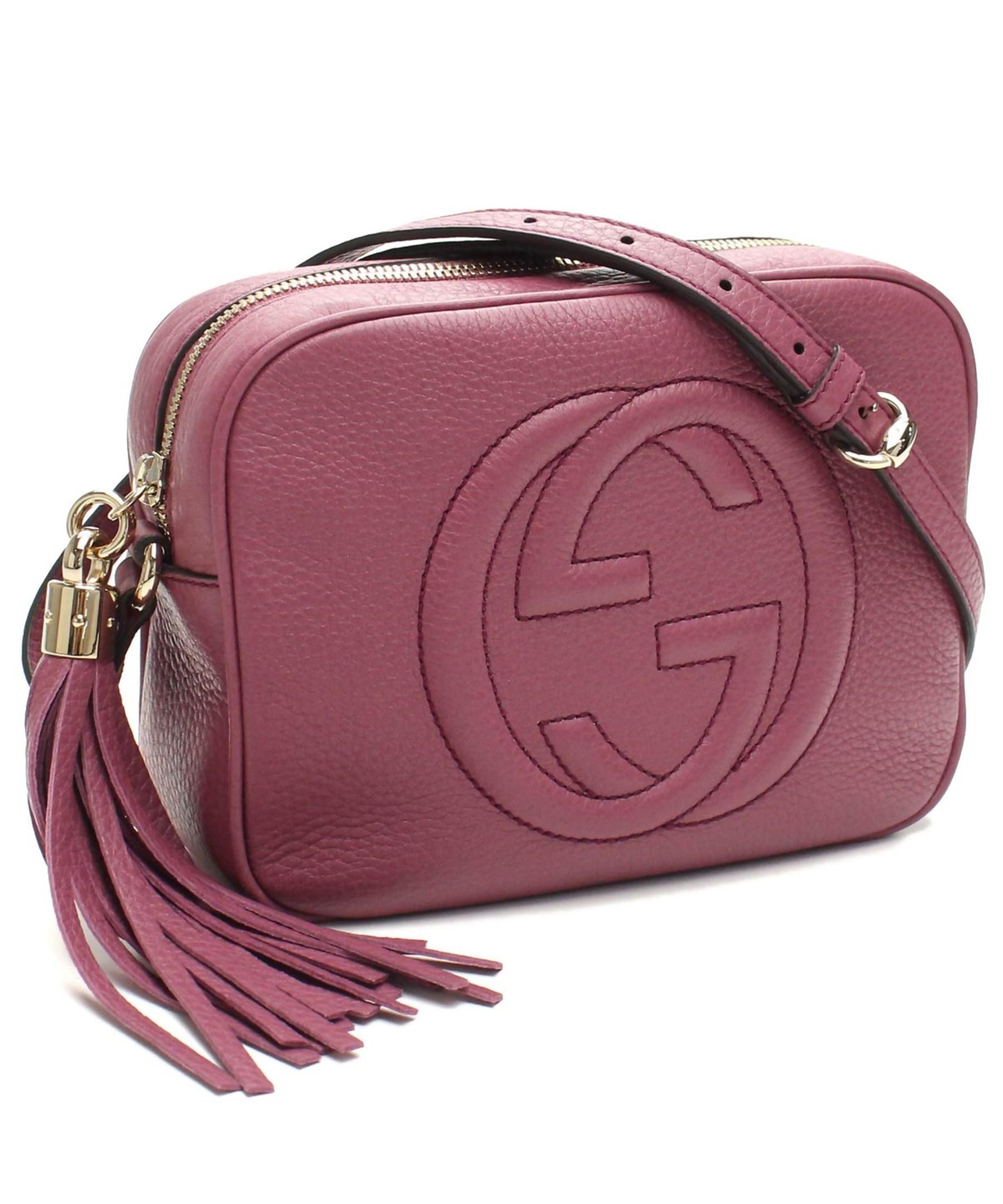 Gucci Soho Leather Disco Bag Dusty Rose in Pink | Lyst