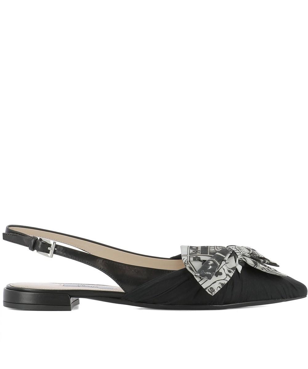 Prada Women's Black Fabric Flats classic online Yzas2evA