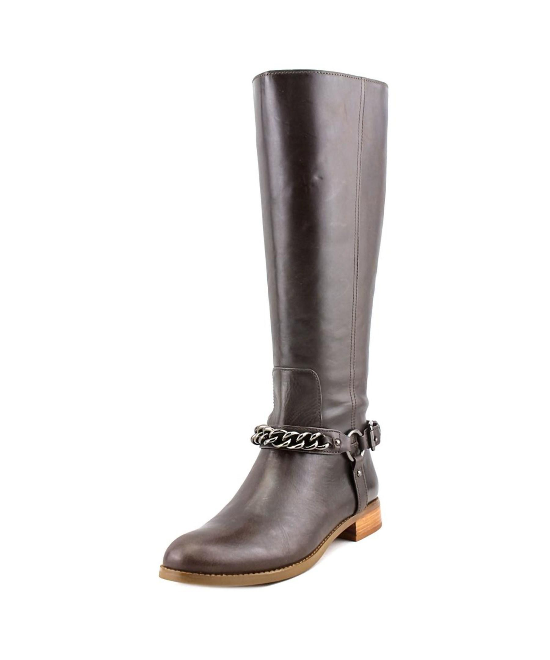 coach mabel toe leather knee high boot in brown lyst