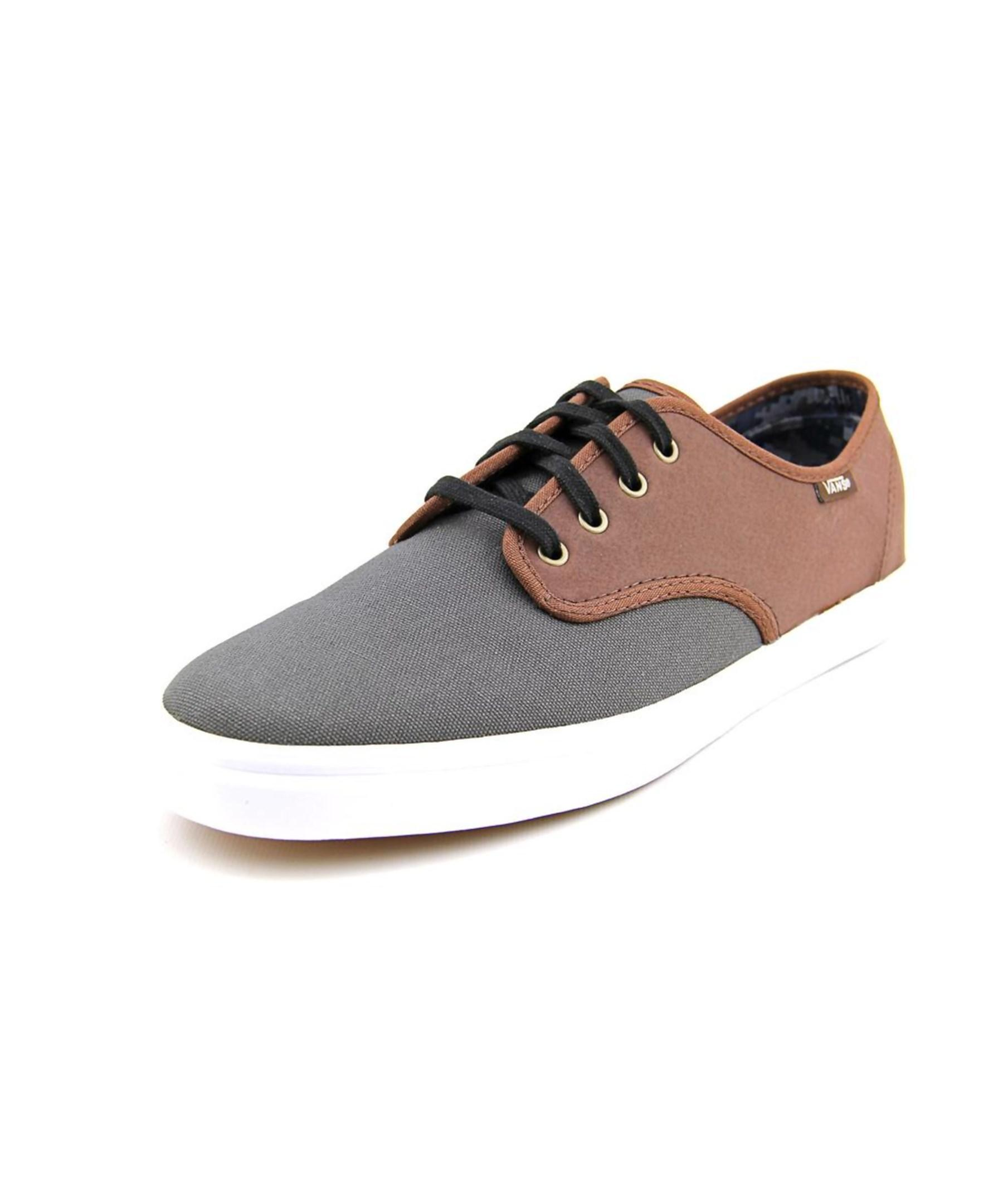 f957954828b5 Lyst - Vans Madero Round Toe Leather Sneakers in Black for Men