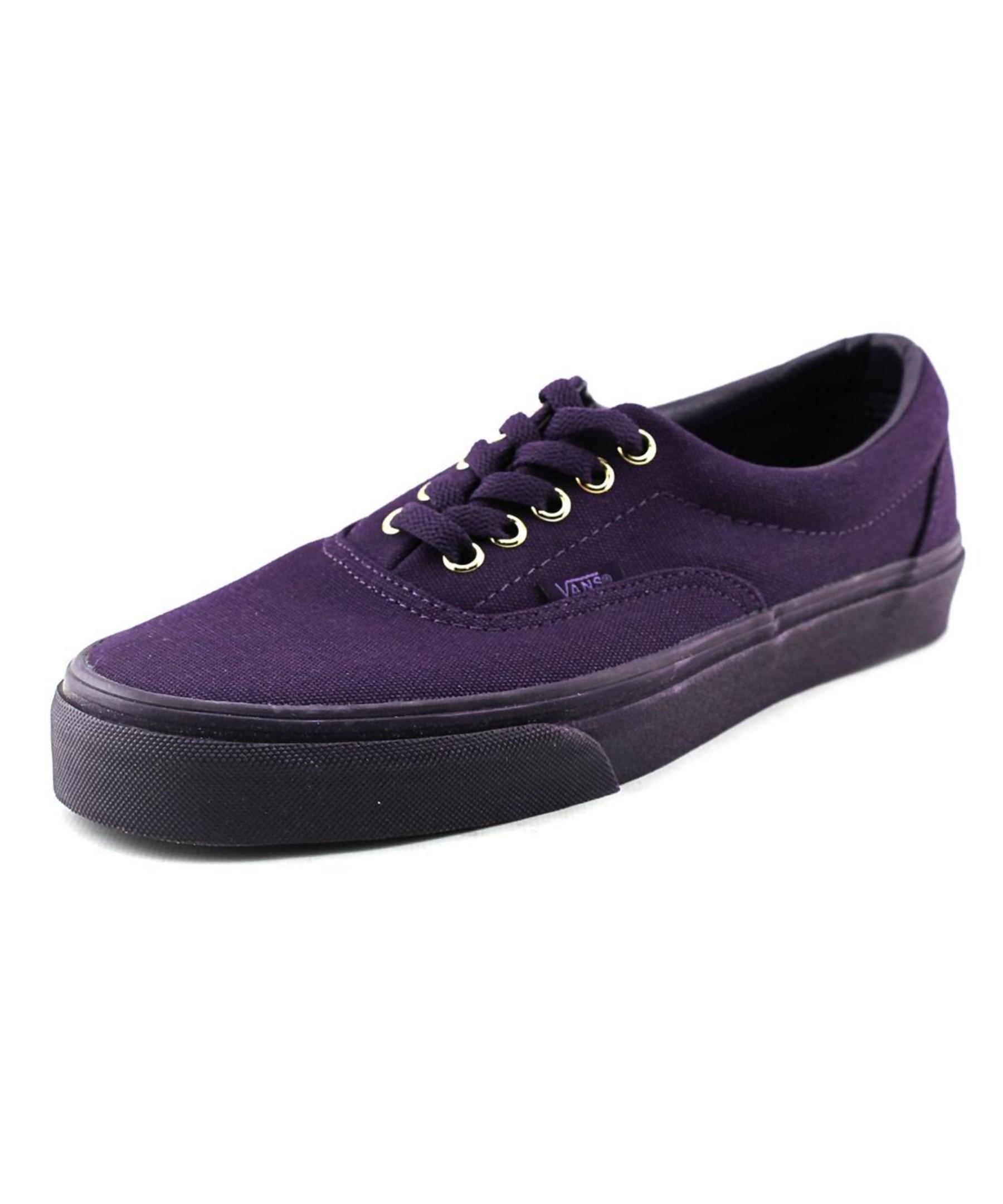 vans era toe canvas sneakers in purple for lyst