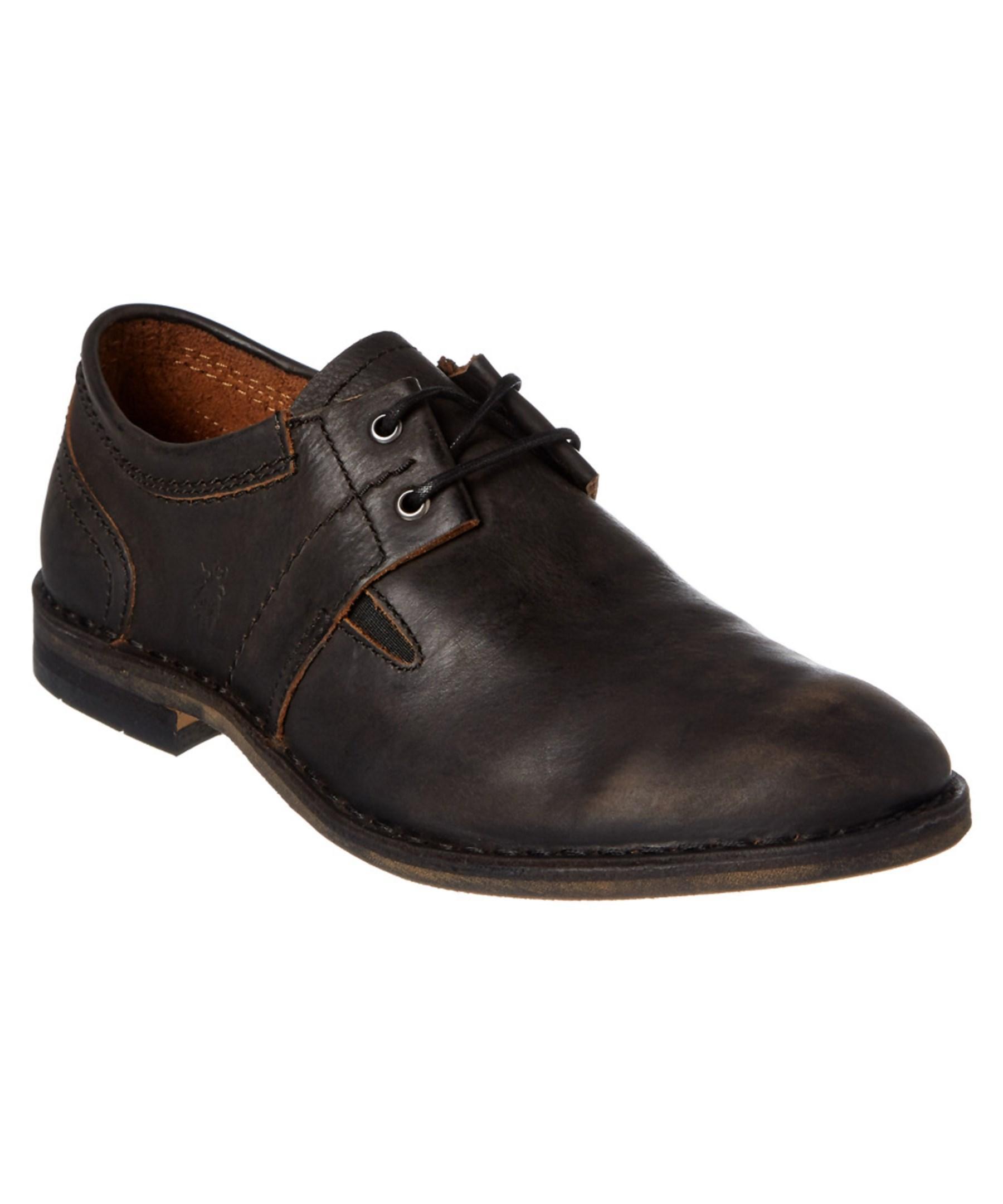 Fly London Mens Murt Leather Oxford In Black For Men