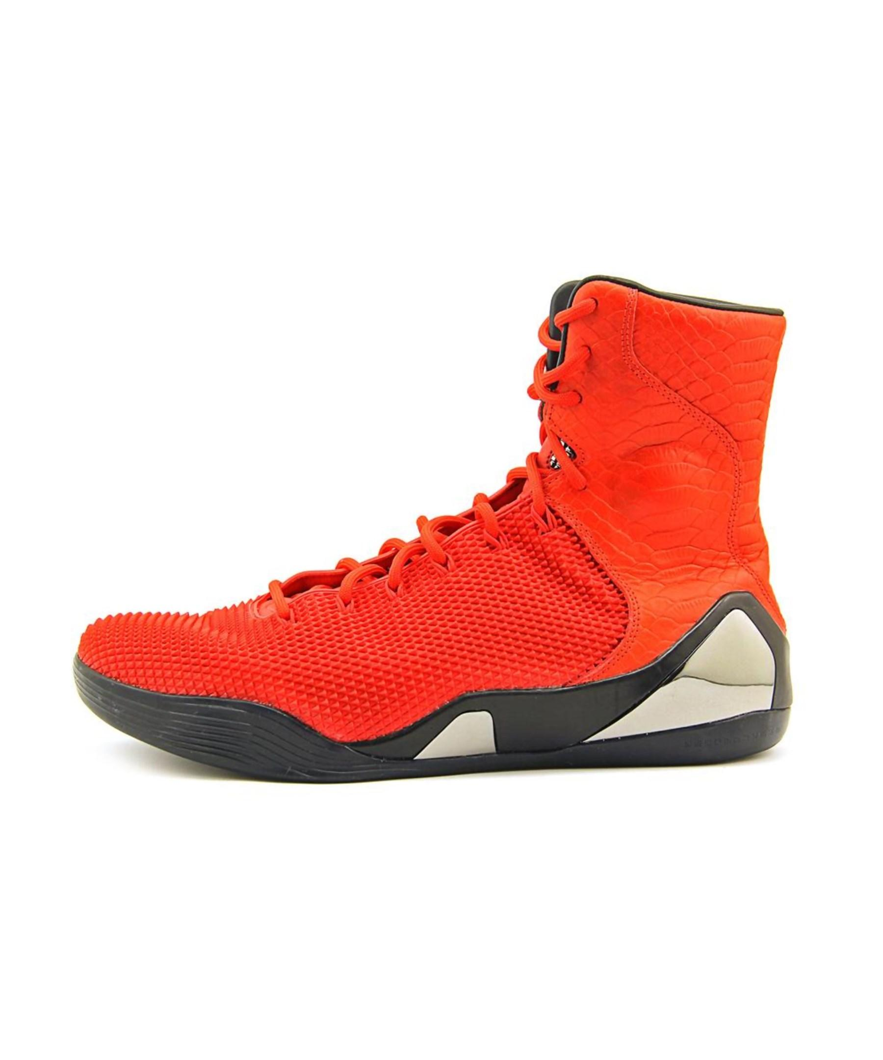 594090e433e8 Lyst - Nike Kobe 9 High Krm Ext Men Round Toe Leather Red Basketball ...