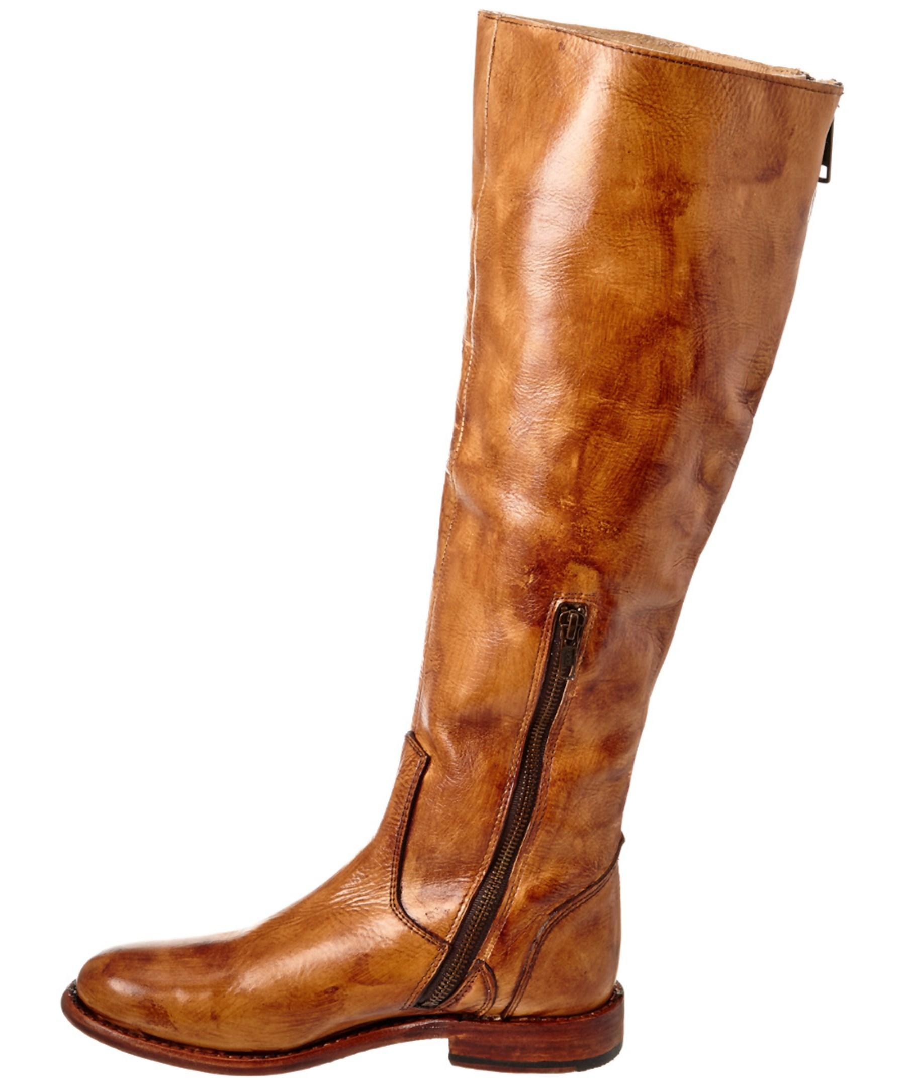 bed stu tess leather boot in brown lyst