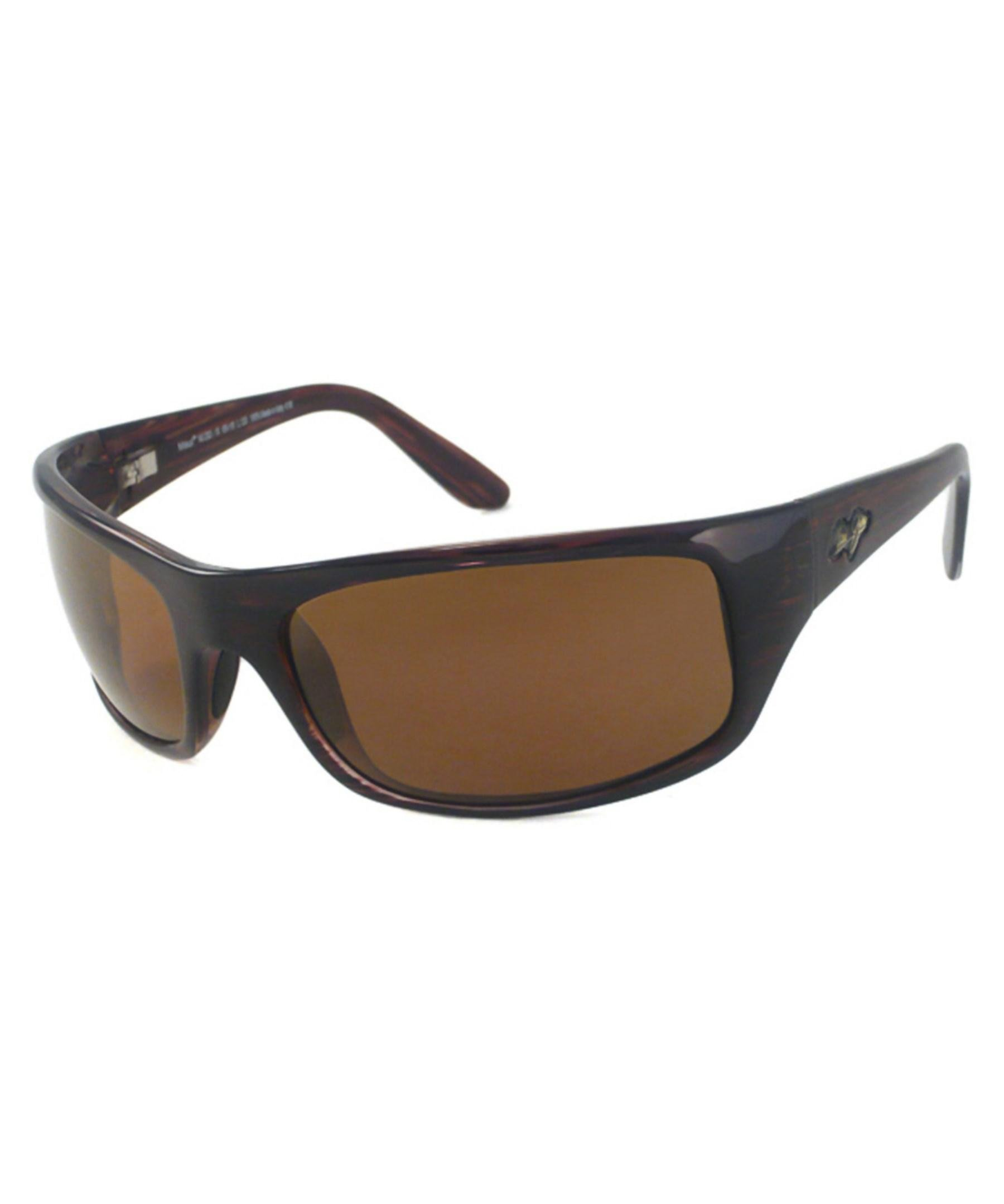 Lyst Maui Jim Men S Peahi Polarized Sunglasses In Brown
