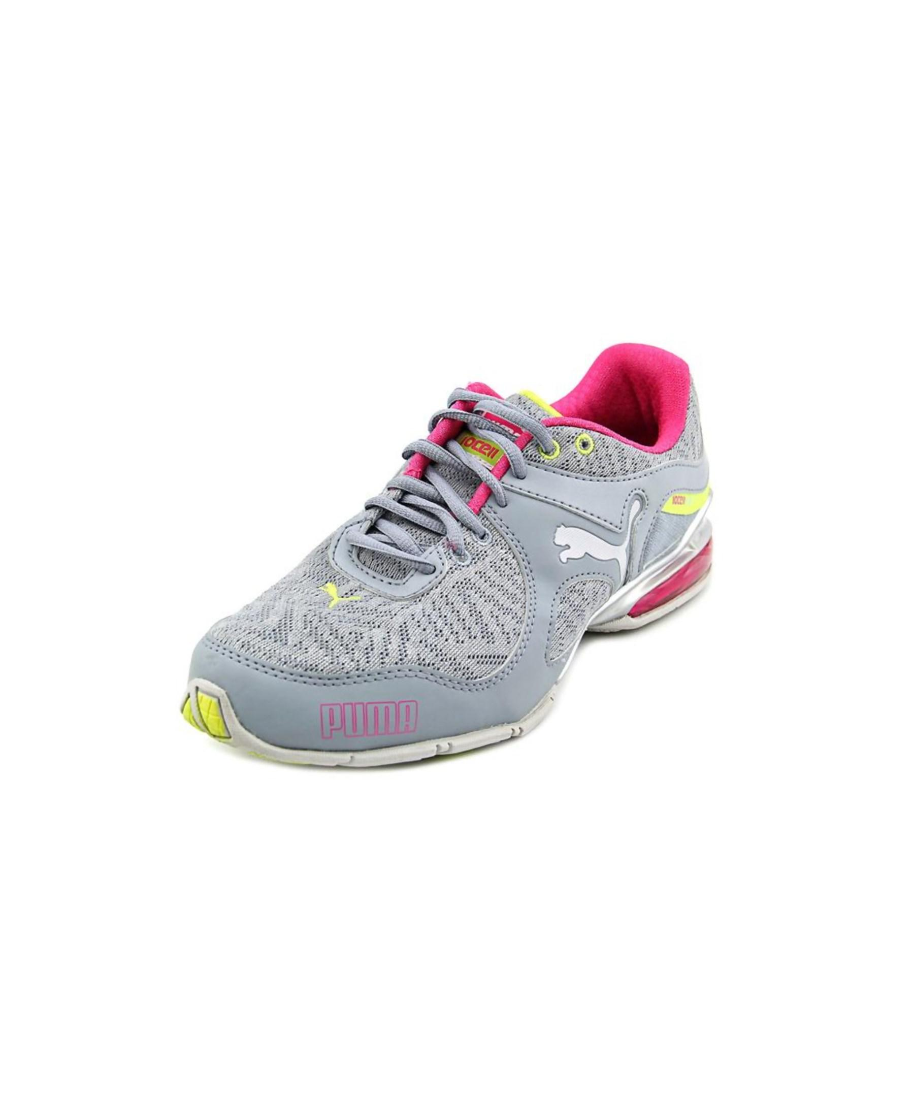 cell riaze foil toe canvas gray running