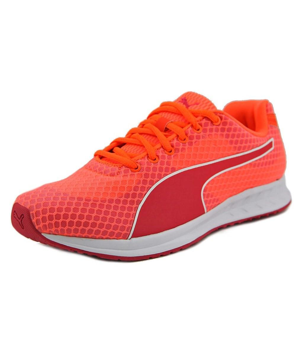 Puma Burst Mesh Round Toe Canvas Running Shoe Pink For Women