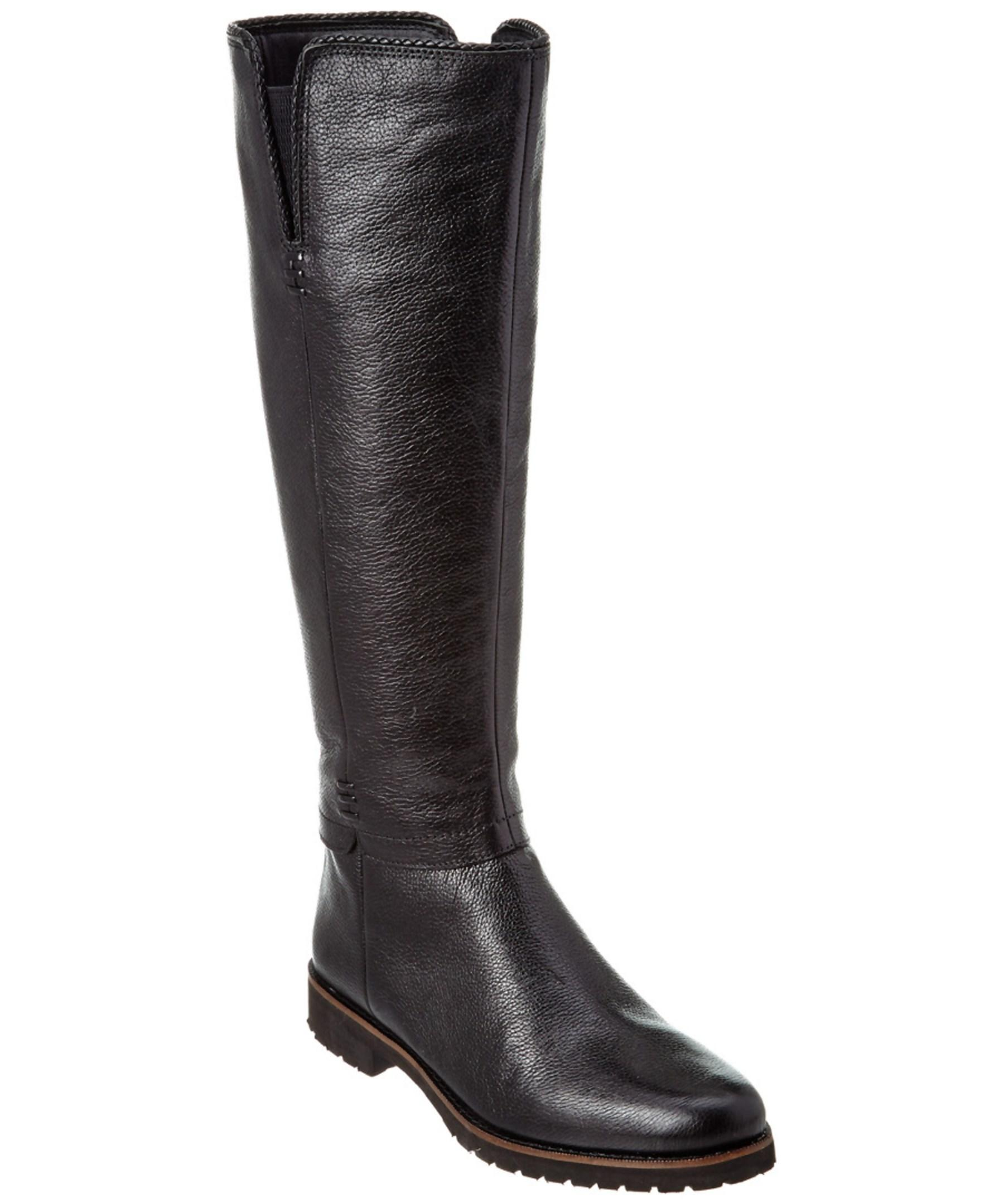 franco sarto coriane leather boot in black lyst