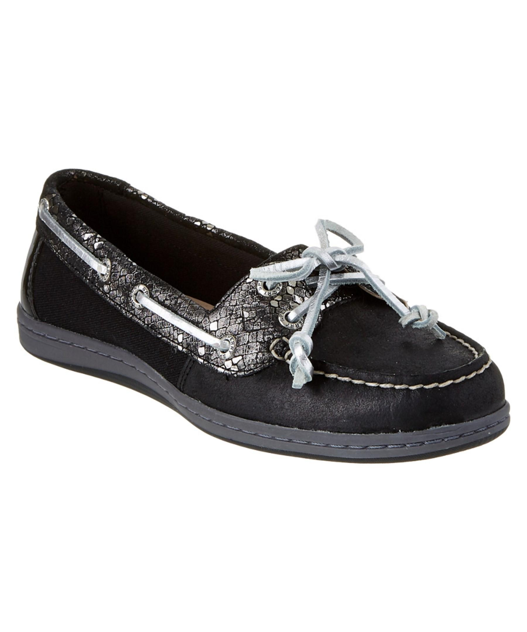 Sperry top-sider Firefish Leather Boat Shoe in Black