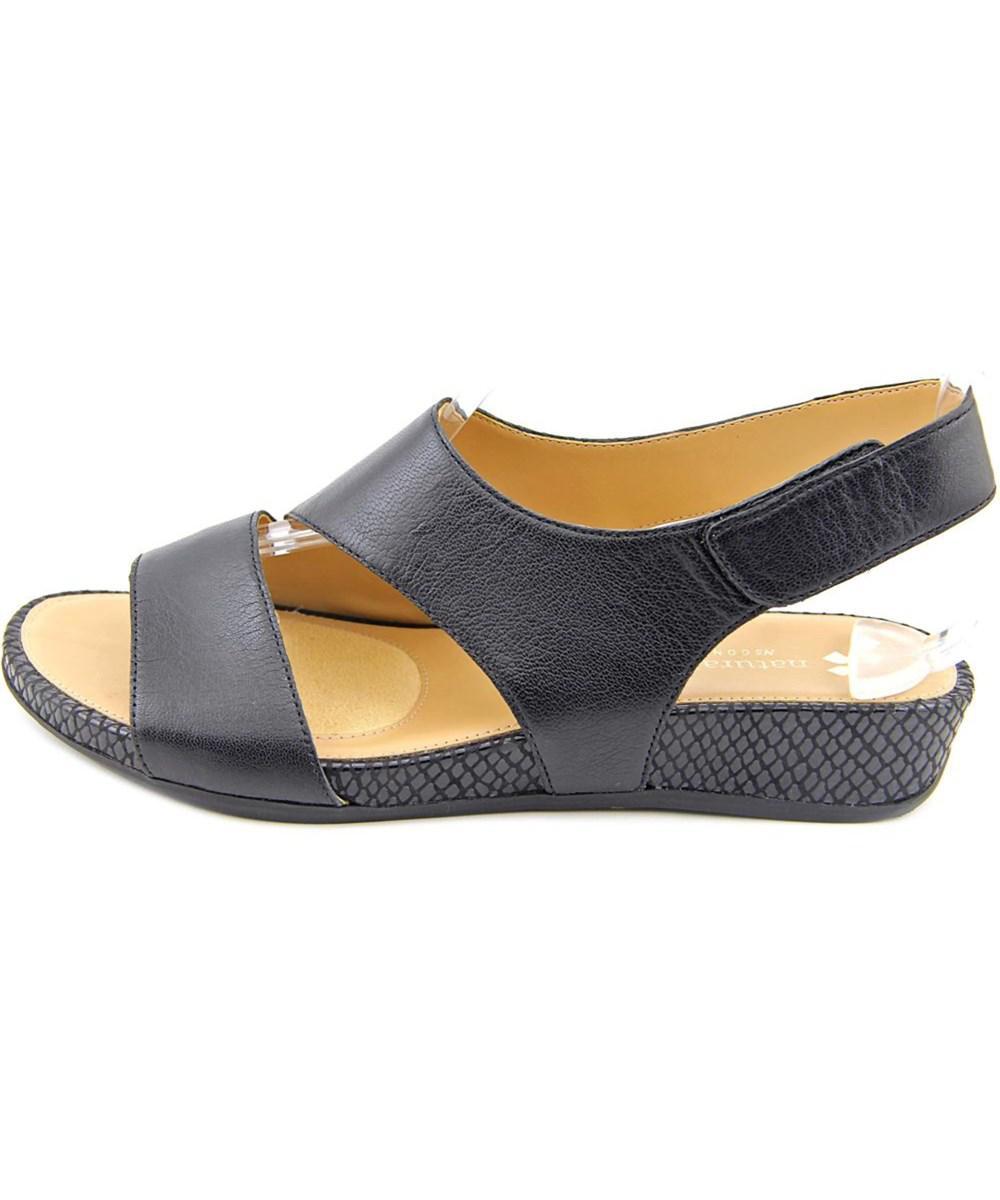 96eb88cd2c89 Lyst - Naturalizer Yessica Women Open-toe Leather Black Slingback ...