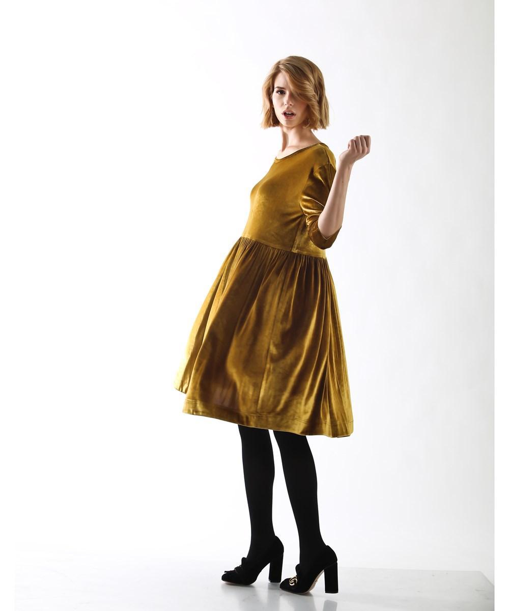 ffd75c42b4bec Lyst - Madeleine Maternity Ballerina Dress in Metallic