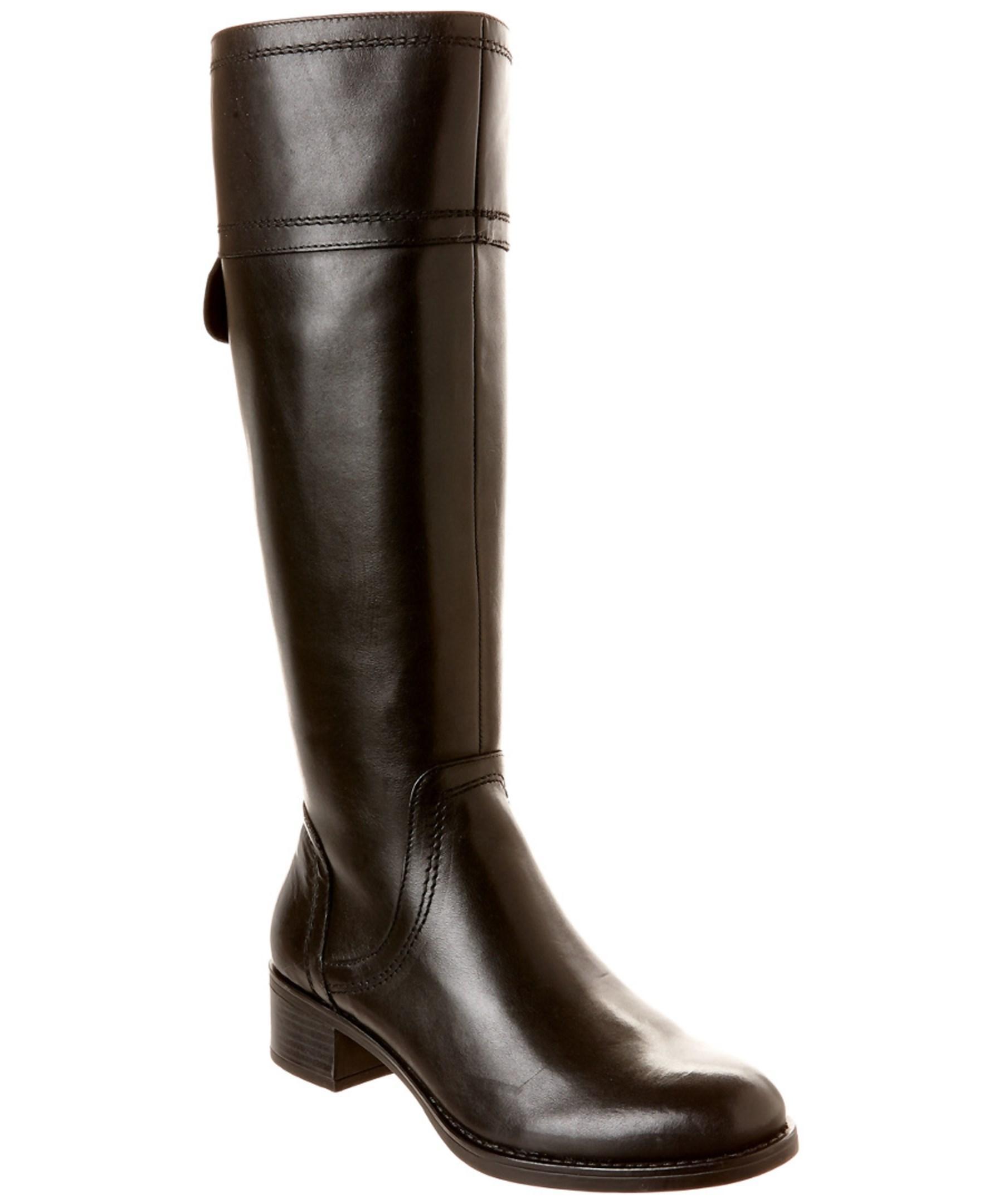 franco sarto carlano leather boot in black lyst