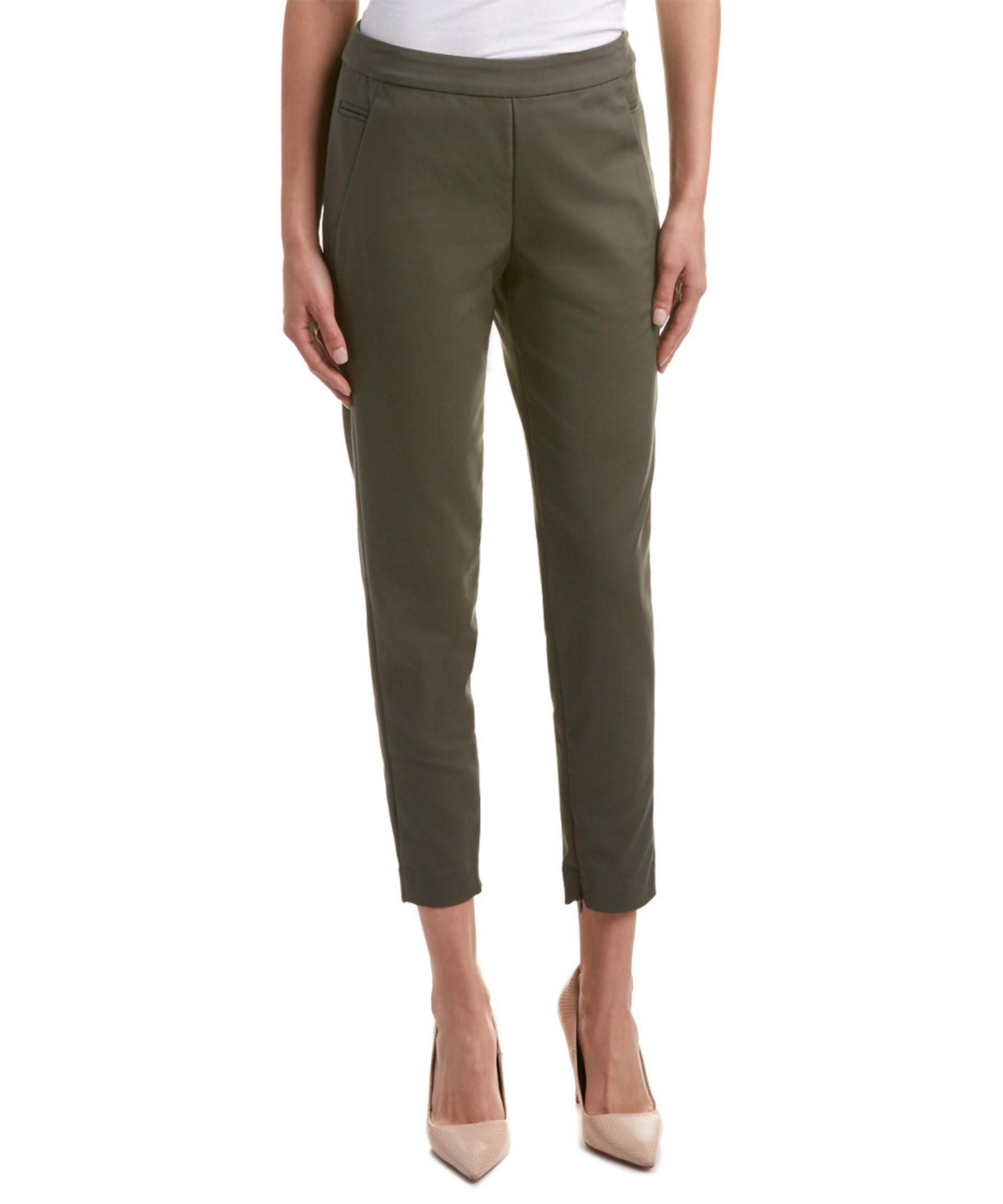 Talbots stretch ankle pants in malachite (green) Hottest Women Yoga Pants Quick Dry Patchwork Stripe Green Elastic Sexy Stretch Skinny Trousers Workout Fitness Sports Leggings Women's Pants .