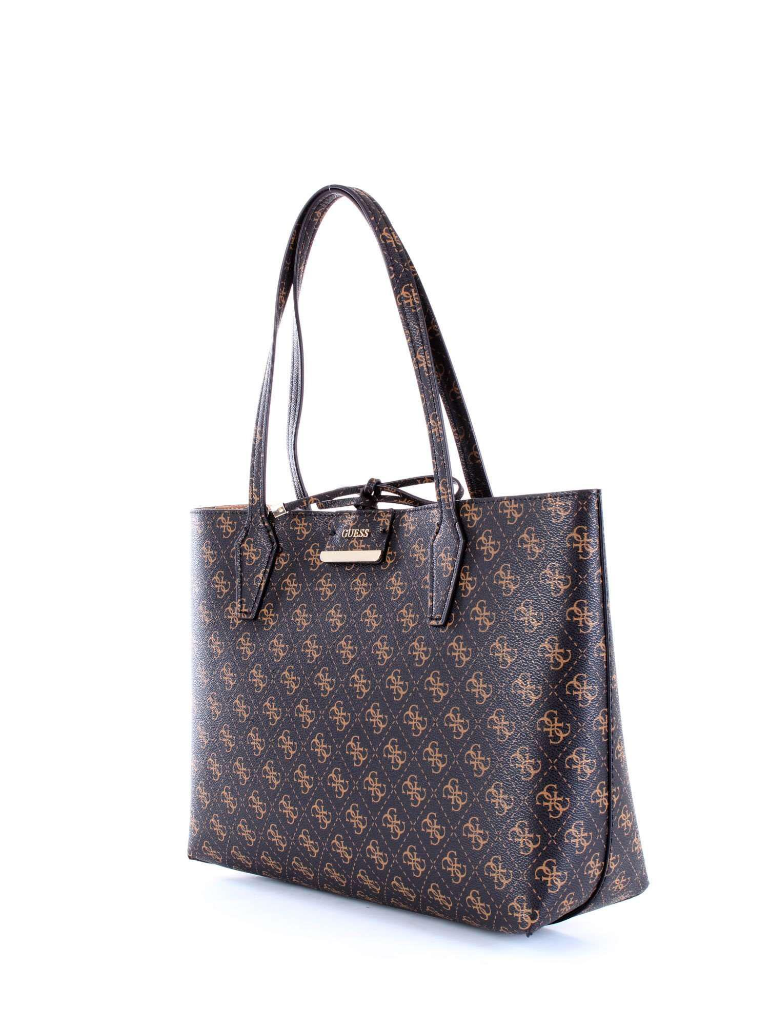 c41c15c5a500 ... Guess - Womens Brown Faux Leather Tote - Lyst. View fullscreen more  photos 304c8 83305 ...