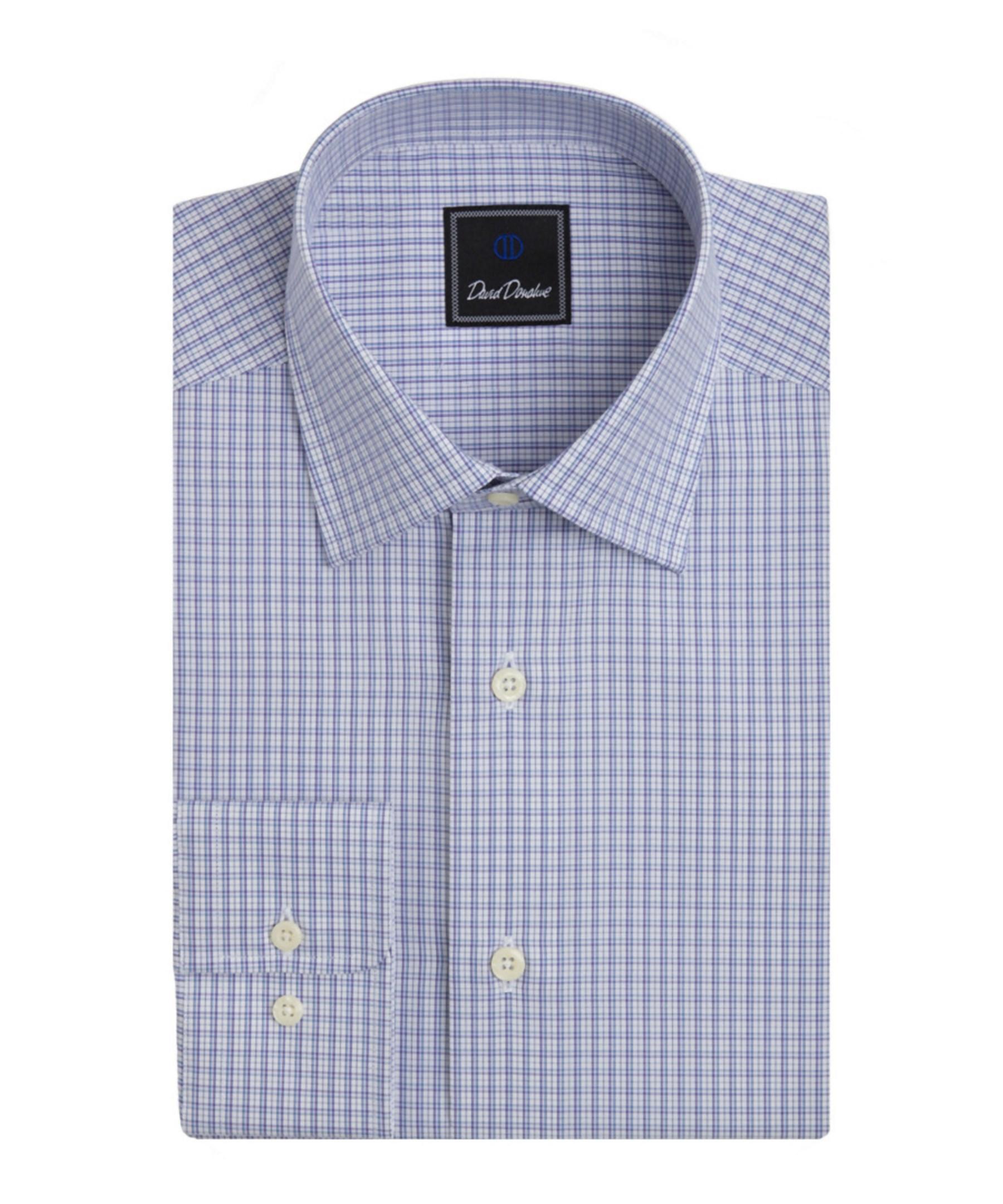 David Donahue Regular Fit Dress Shirt In Blue For Men Lyst