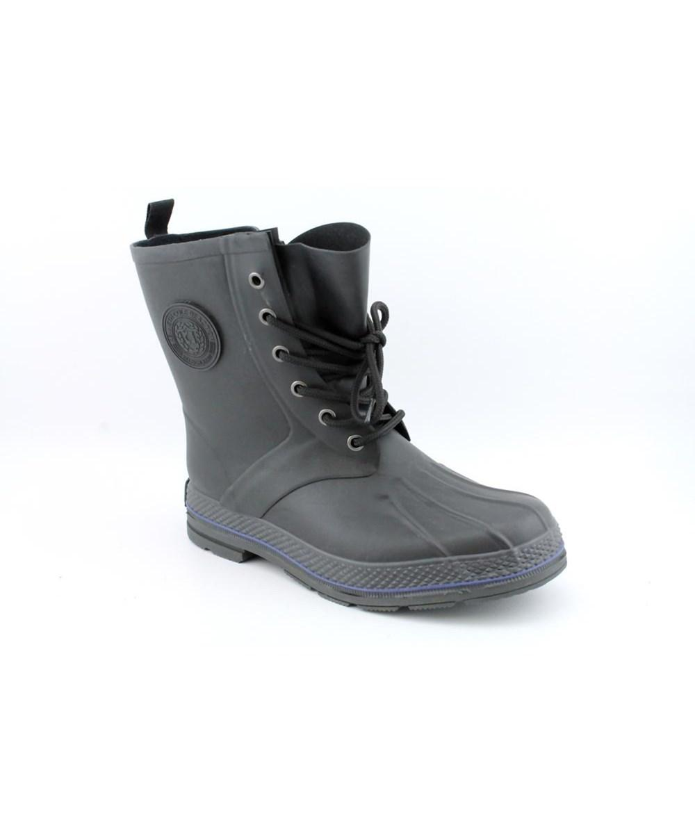 Last style Kenneth Cole Reaction Perfect Storm Men Round Toe Synthetic Black Rain Boot Mens Black Kenneth Cole Reaction Mens Boots