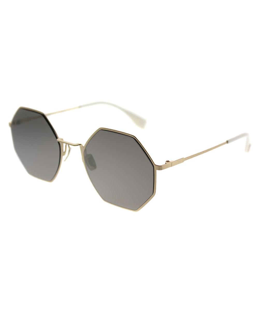57c58a332aa6 Fendi Eyeline Ff0292 J5g Ue Gold Round Sunglasses in Metallic - Lyst