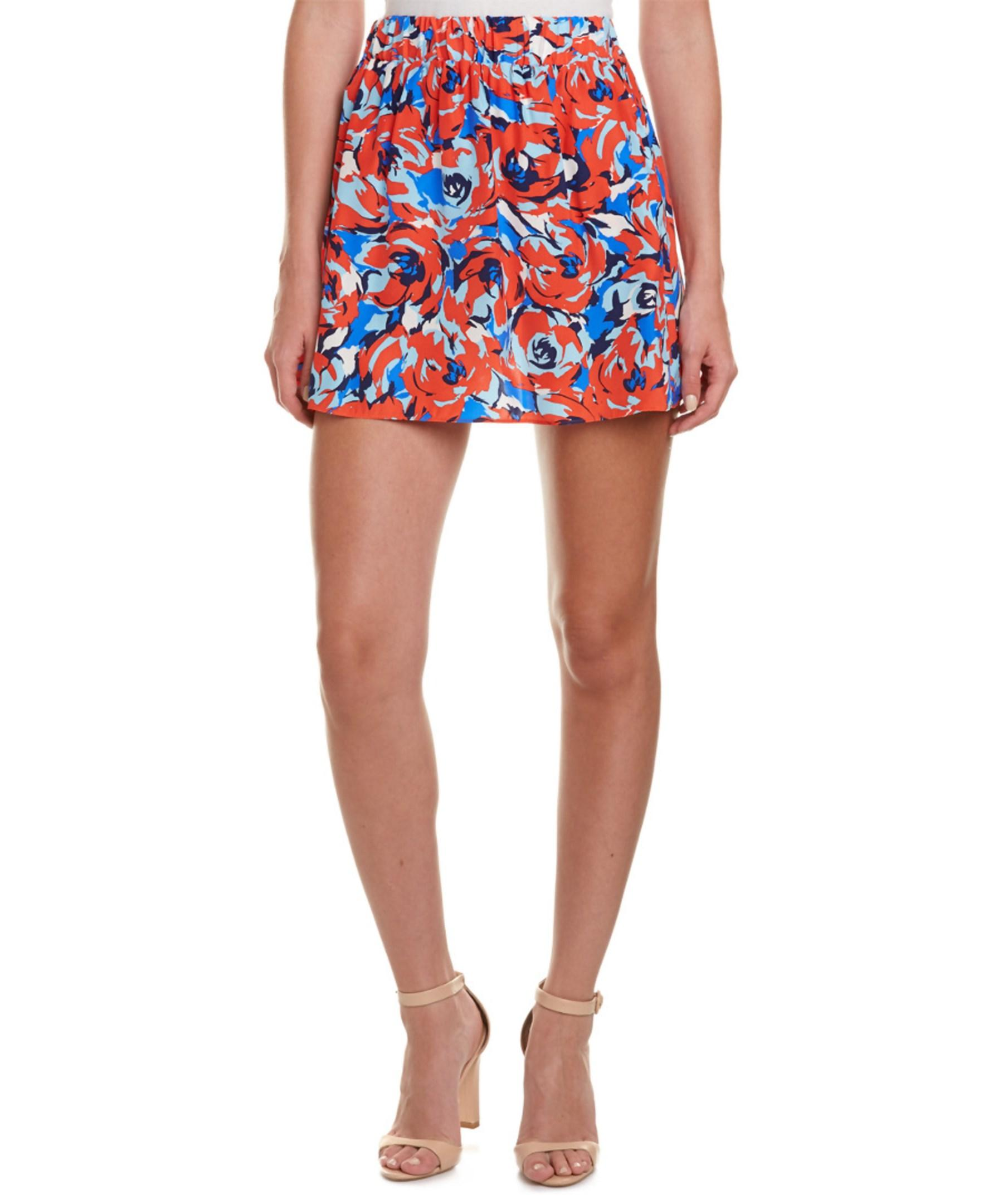 trixie silk a line skirt in lyst