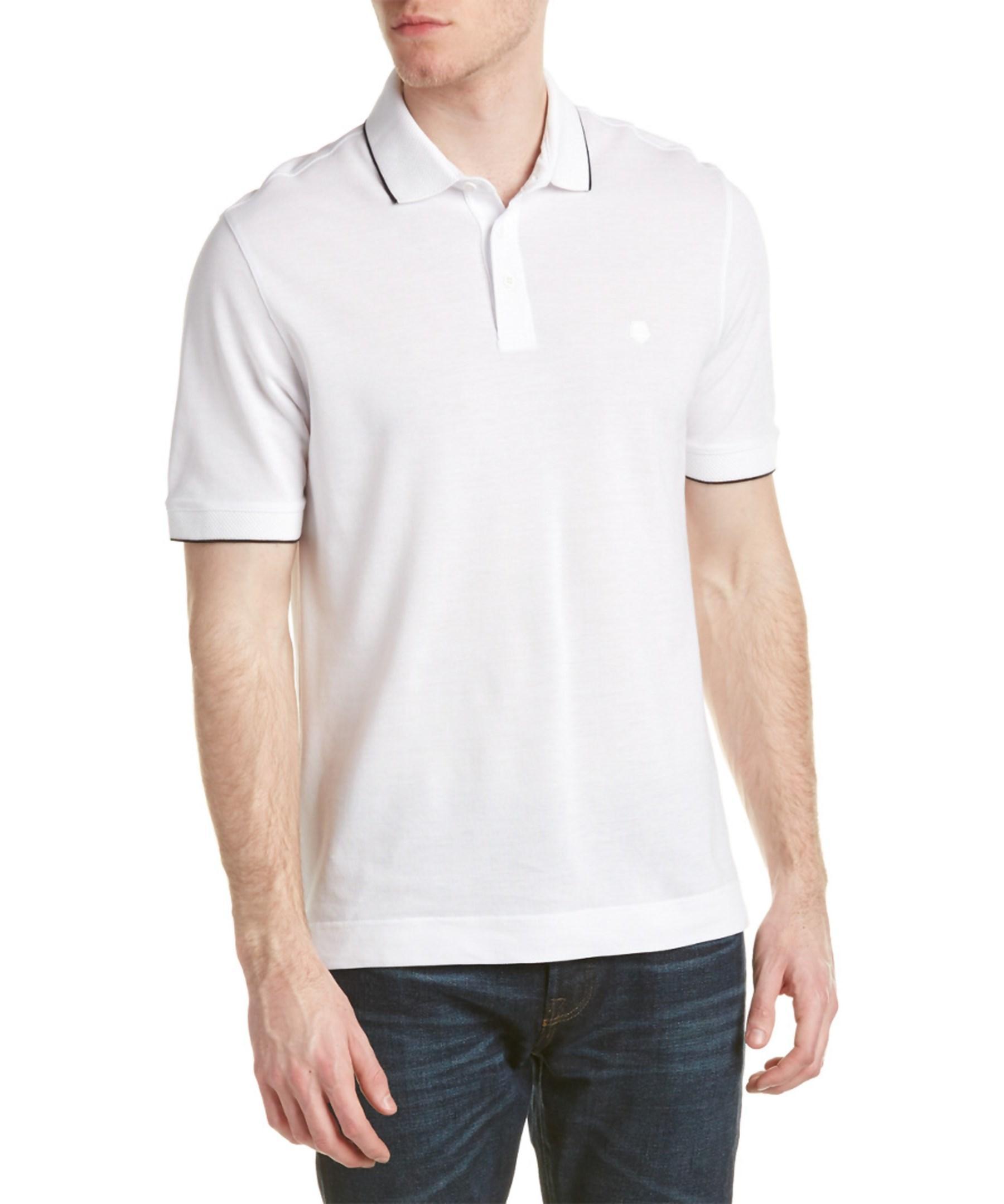 Ermenegildo zegna z polo shirt in white for men lyst for Zegna polo shirts sale