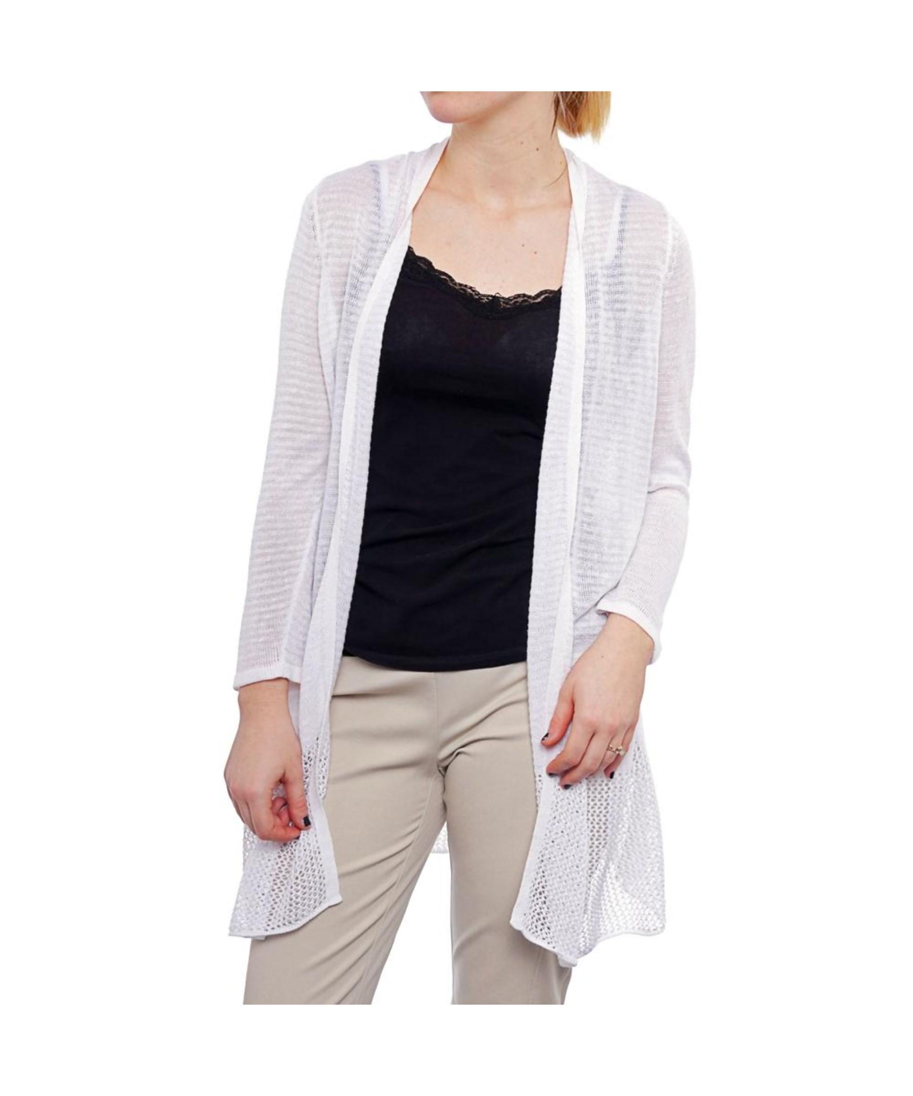 Womens White Cardigan Sweater