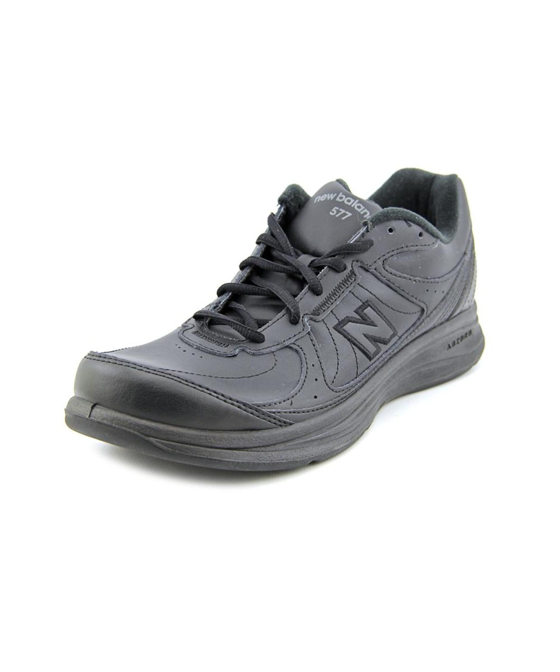New Balance Mw Men Round Toe Leather Black Walking Shoe