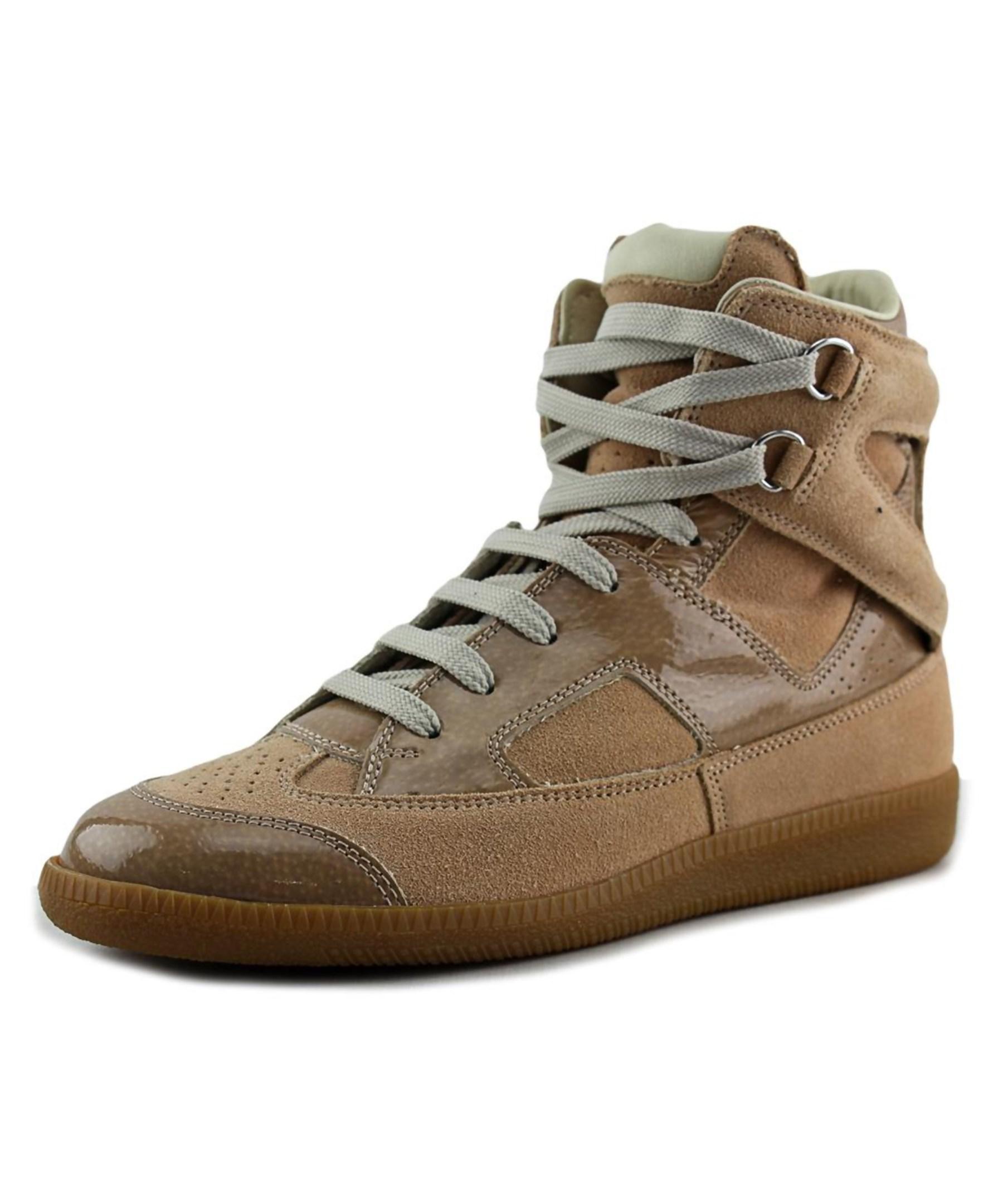 Maison margiela line 22 cutout sneaker women leather tan for Maison margiela 22