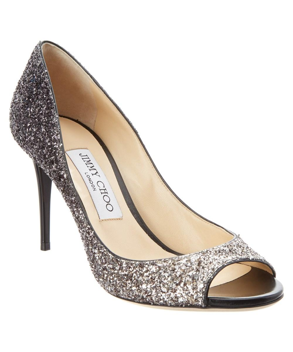 531835185a Lyst - Jimmy choo Evelyn 85 Speckled Glitter Degrade Pump in Brown