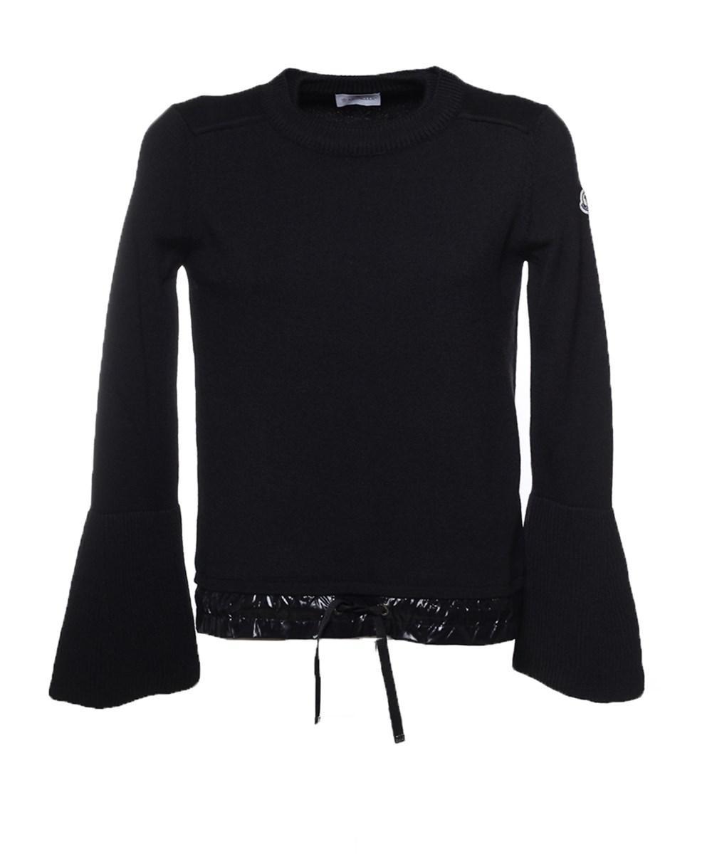 Moncler Women's Black Wool Sweater in Black | Lyst