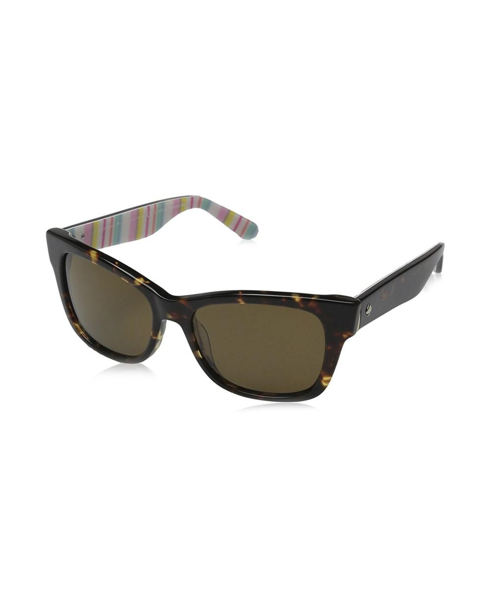 316bf2dd78 Lyst - Kate Spade Alora P Women Sunglasses in Brown