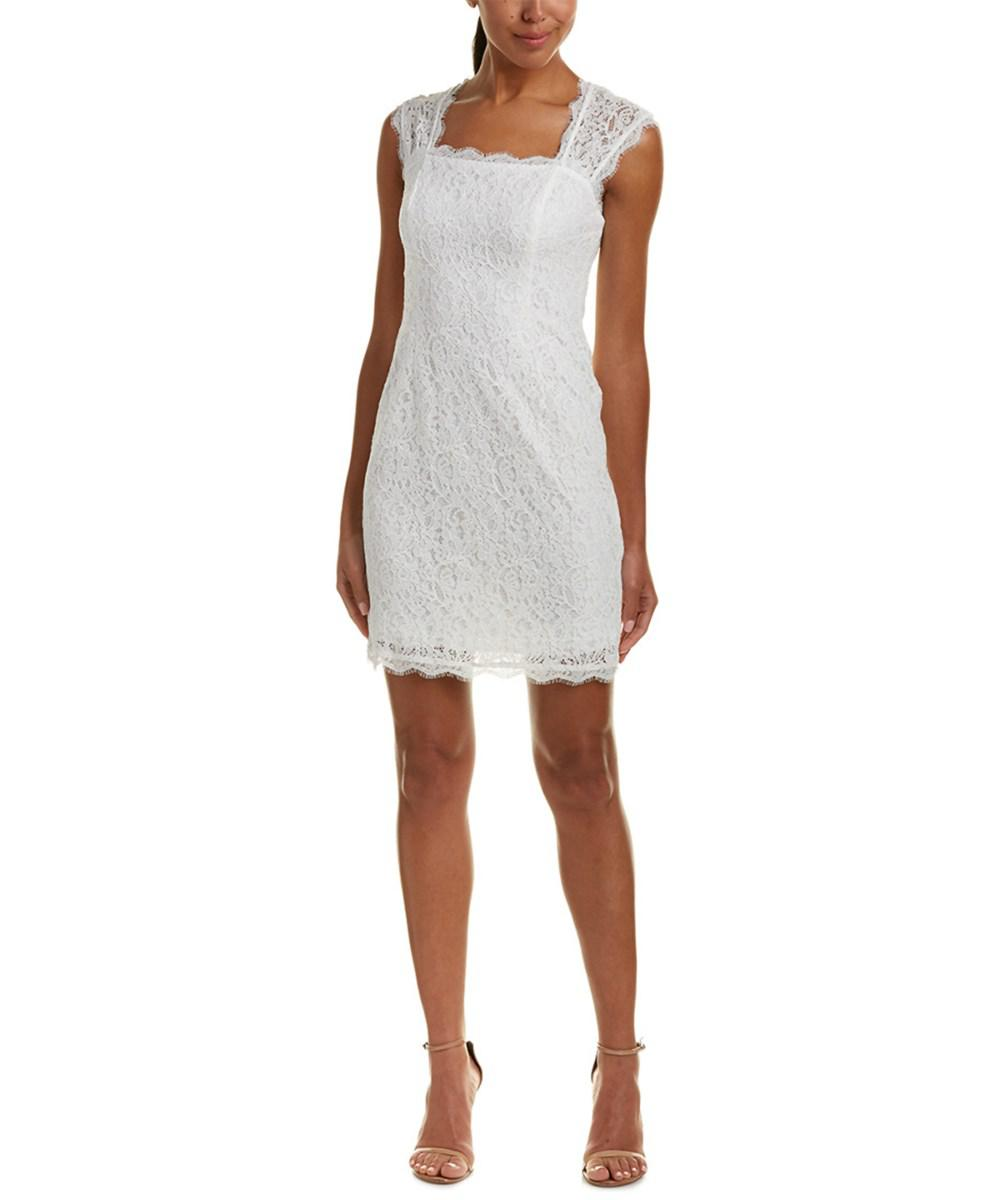 Adrianna Papell. Women's White Sheath Dress