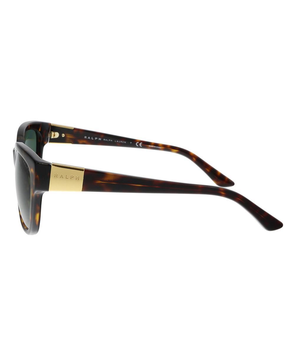 Lyst - Ralph Lauren Ra5208 137871 Dark Tortoise Rectangle Sunglasses ... 4e74f2826dfa