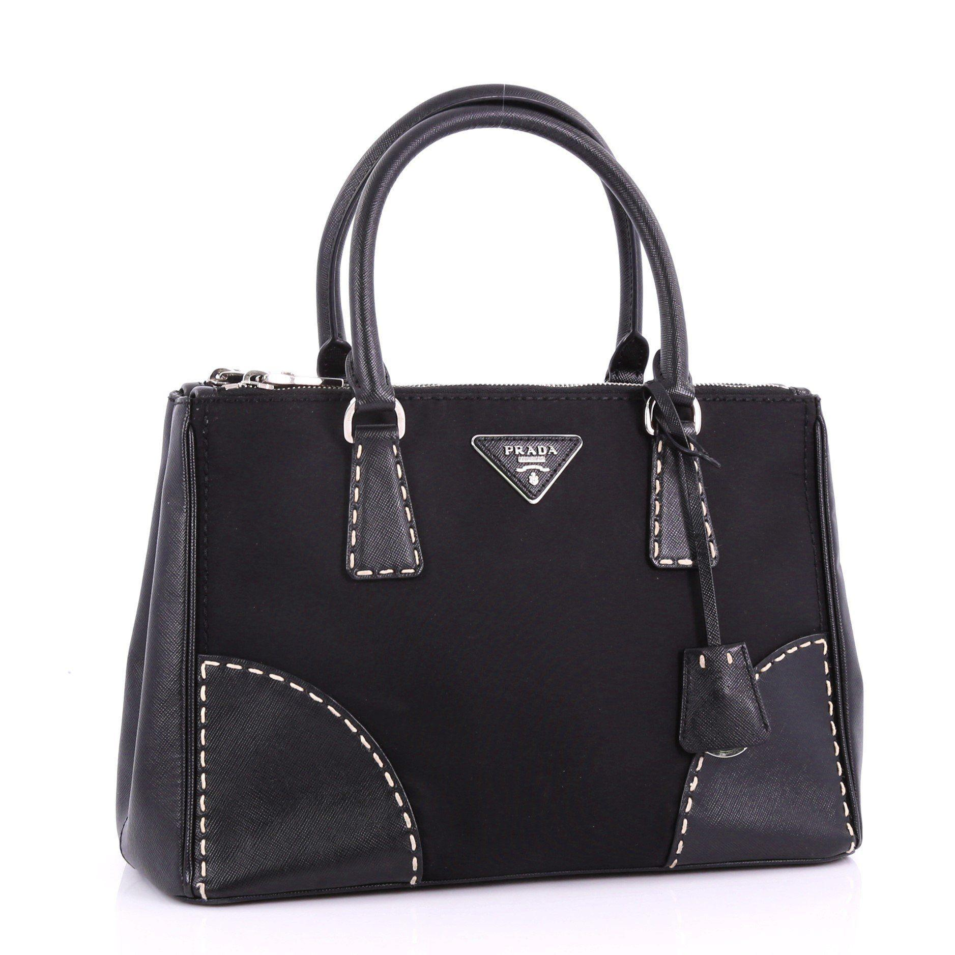 c3ad616f675efe ... Convertible Tote Stitched Tessuto And Saffiano Small - Lyst. View  fullscreen