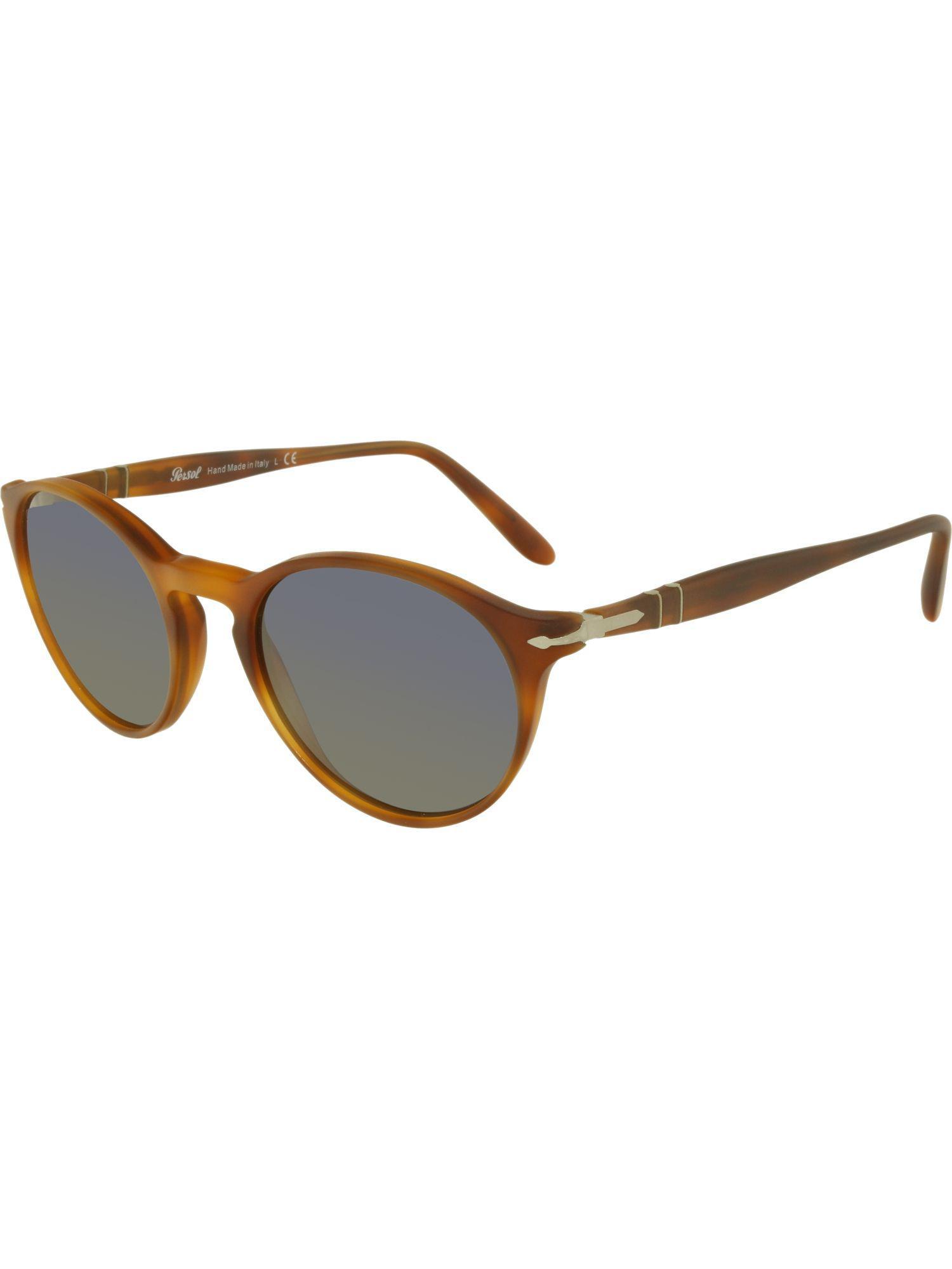 e12e33c534900 Lyst - Persol Mirrored Po3092sm-900656-50 Orange Round Sunglasses ...