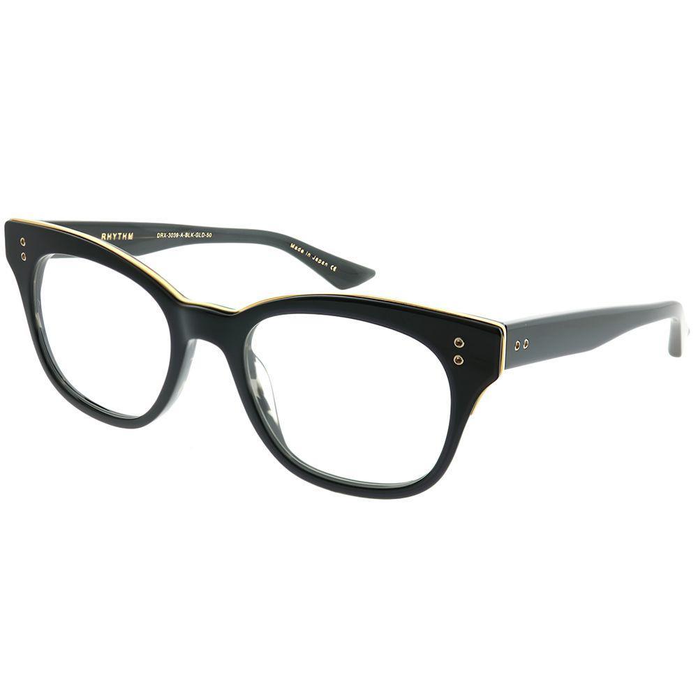 18eaf21cdf4 Lyst - Dita Rhythm Black - Black Swirl - 18k Gold Square Eyeglasses ...