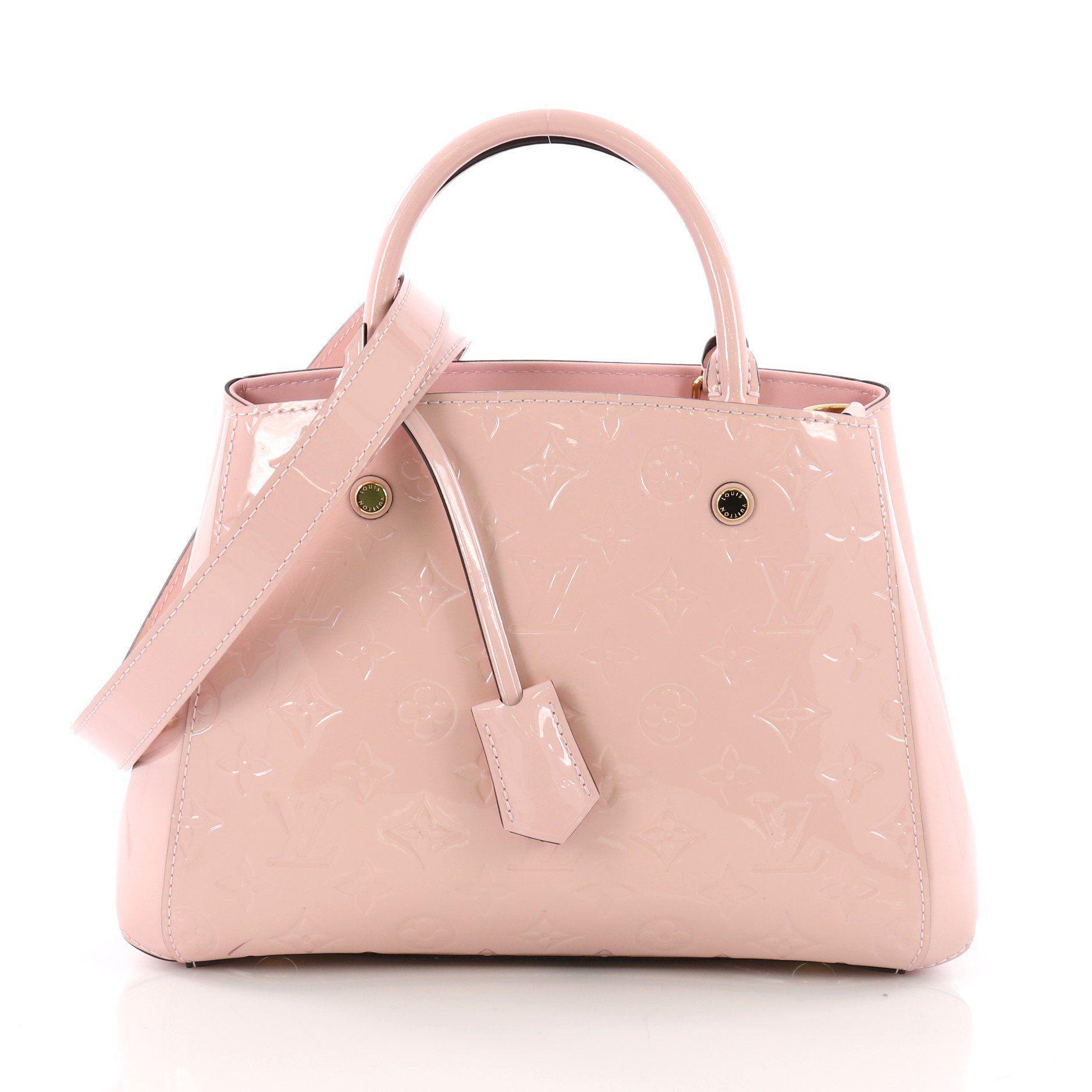 763f85a073f5 Louis Vuitton. Women s Pink Pre Owned Montaigne Handbag Monogram Vernis Bb