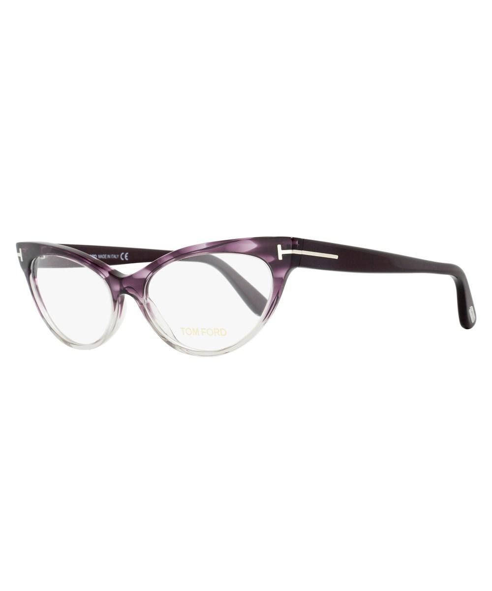 f415d1481cc36 Lyst - Tom Ford Cateye Eyeglasses Tf5317 083 Size  54mm Violet ...