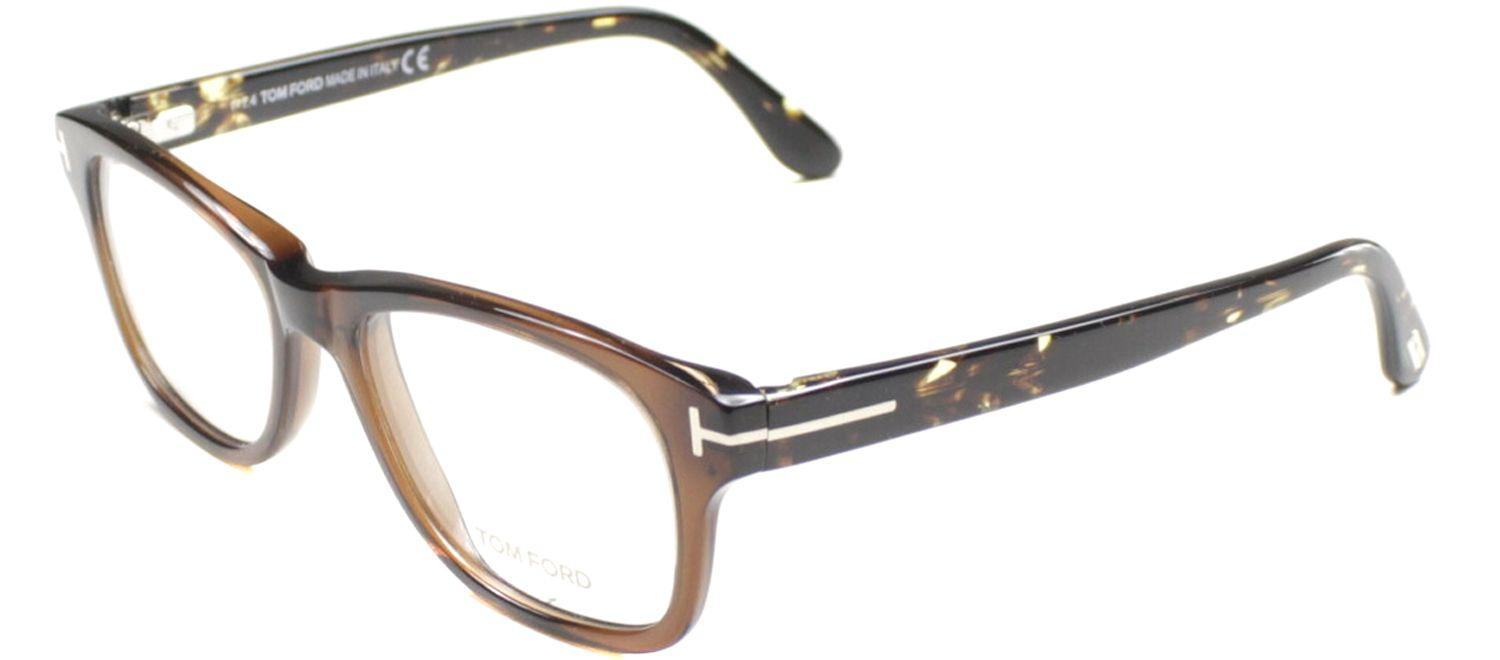 76a0130cf05 Lyst - Tom Ford Ft5147 050 Brown Rectangle Eyeglasses in Brown