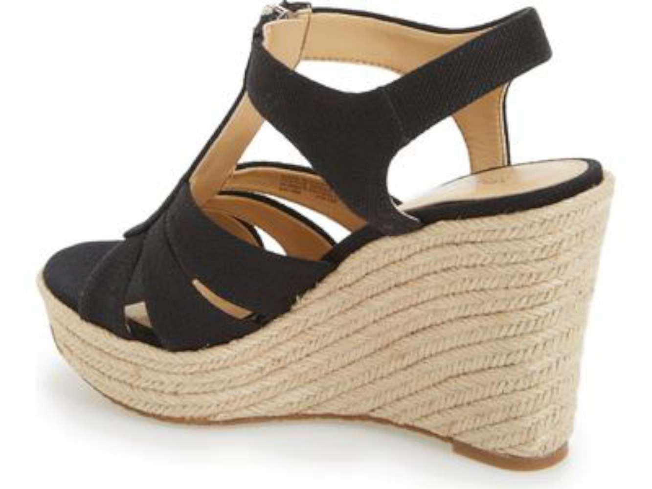 01db60232f01 Michael Kors - Black Womens Berkley Platform Wedge Open Toe Casual Platform  Sandals - Lyst. View fullscreen