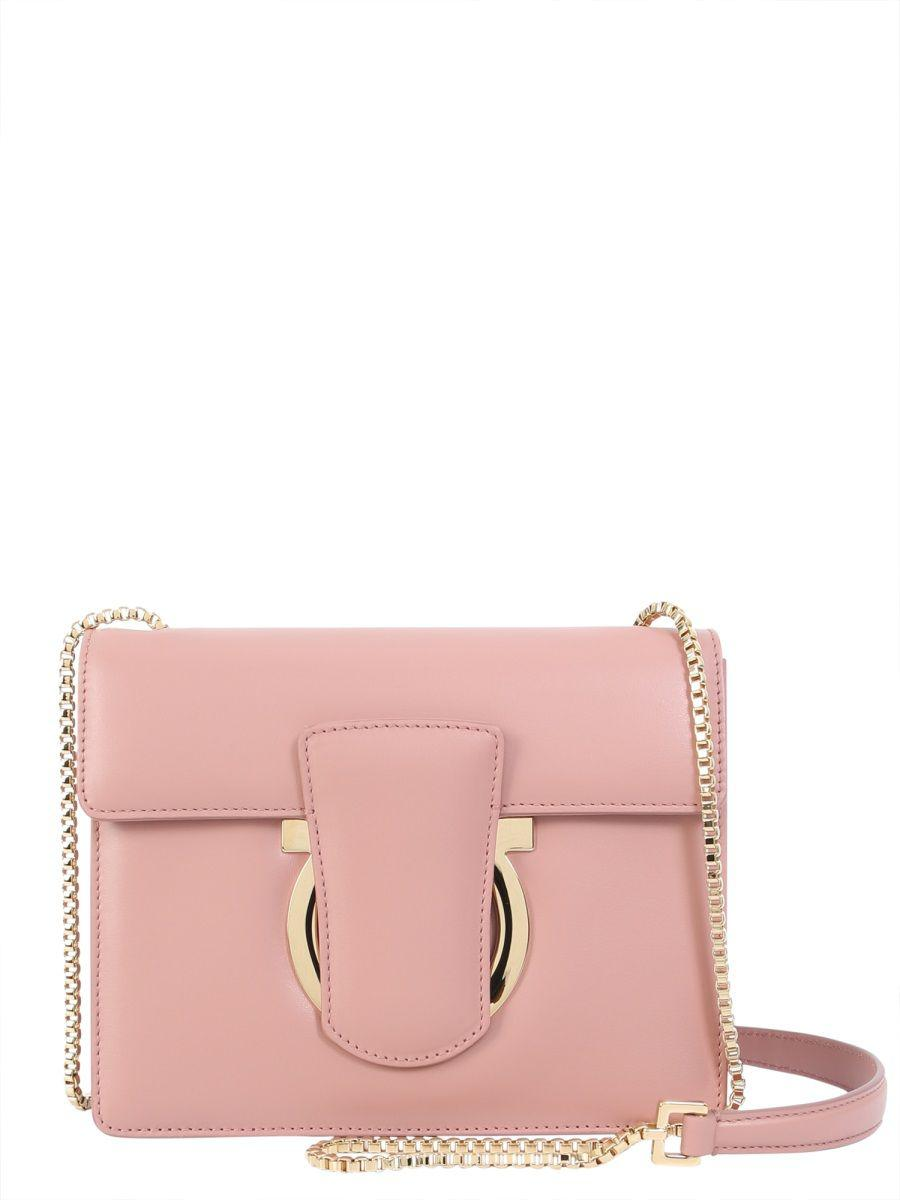 Lyst - Ferragamo Women s Pink Leather Shoulder Bag in Pink 519b912d7fc36