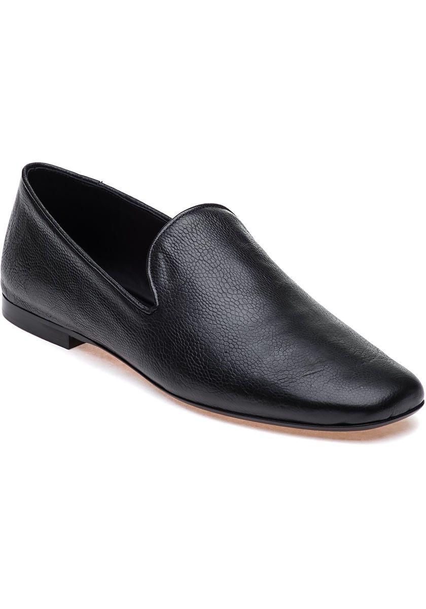 616205650c4 Lyst - Vince Bray Leather Loafer in Black