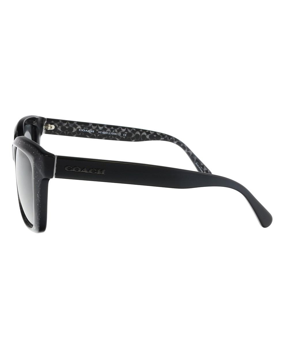 3a6165effb20 ... coupon code for lyst coach hc8230 550587 black glitter rectangle  sunglasses in black 68a16 79ec0 ...