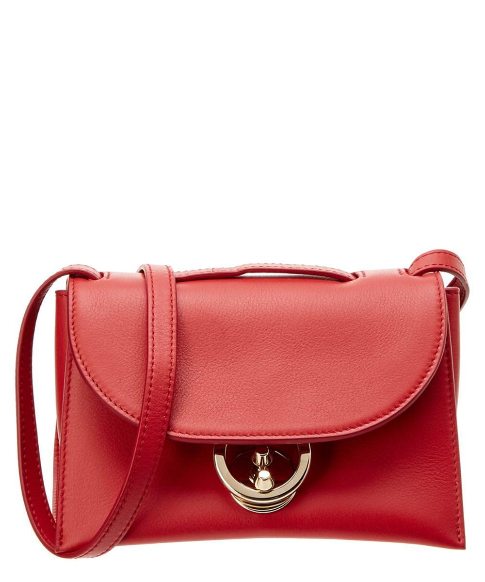 08b65e08142c Lyst - Ferragamo Small Flap Leather Crossbody in Red