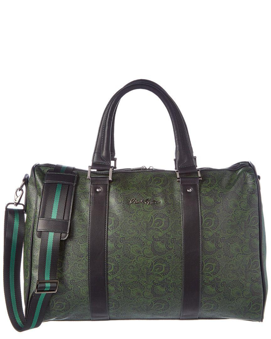 Lyst - Robert Graham Ausable Leather Duffle in Black for Men aef275b2fafc6