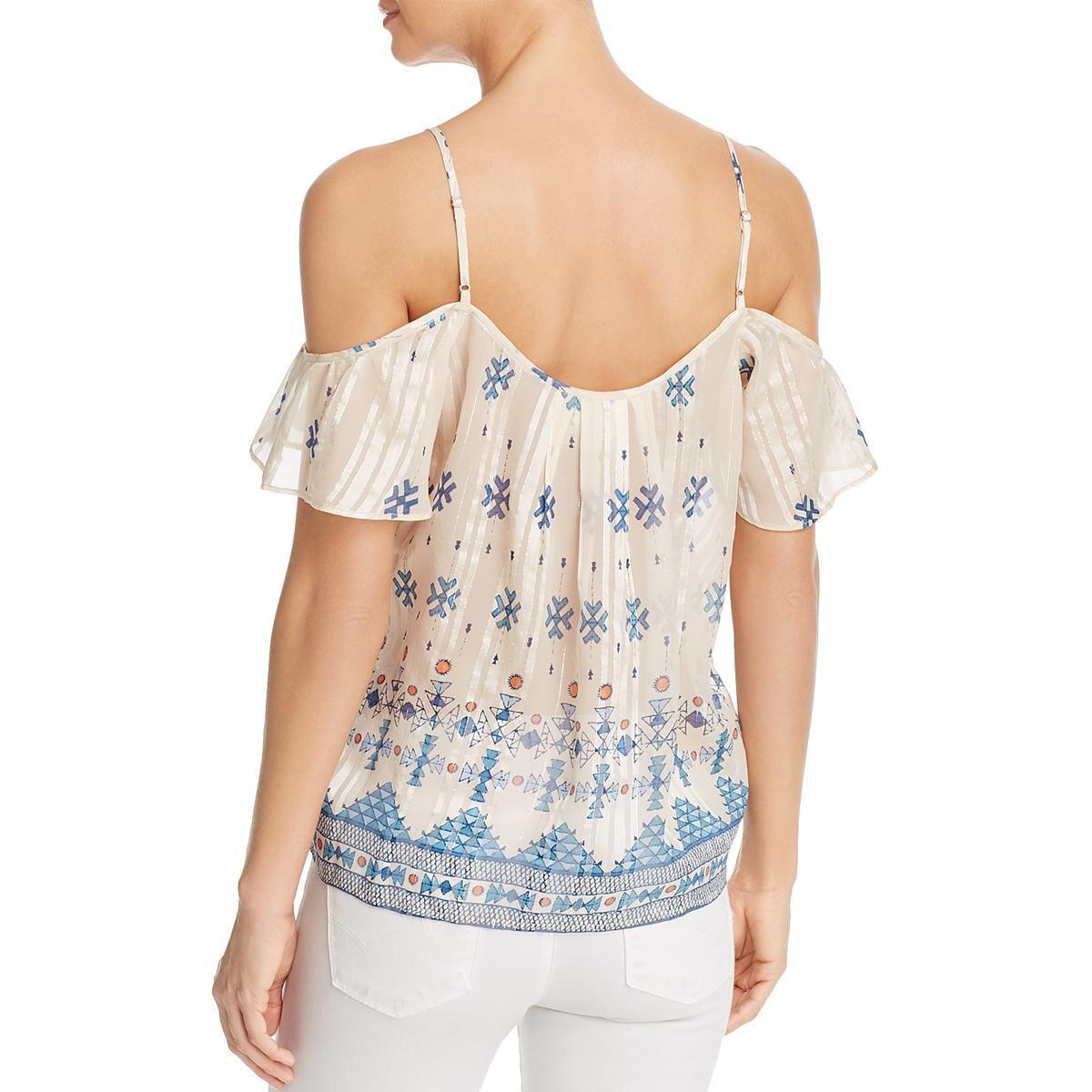 d9d47cdc8b9beb Joie - Natural Womens Adorlee Cold Shoulder Sheer Blouse - Lyst. View  fullscreen