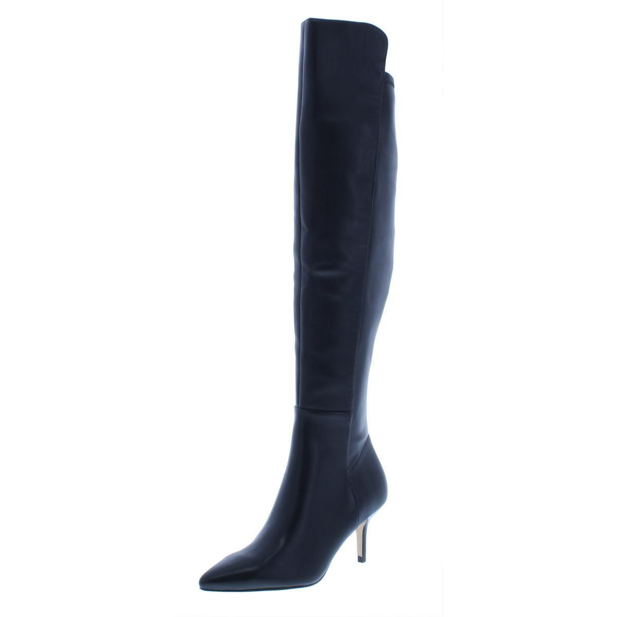 144698bddc6 Marc Fisher. Black Womens Adana Kitten Heel Pointed Toe Over-the-knee Boots
