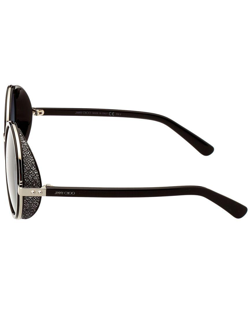 bc44903533a Lyst - Jimmy Choo Andie Crystal 54mm Sunglasses in Black
