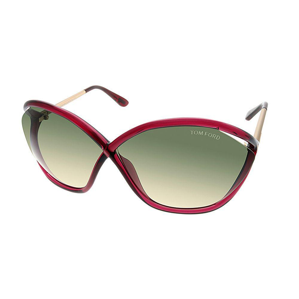 b0e6312937512 Lyst - Tom Ford Bella Ft 0529 77b 71mm Transparent Berry Oval Sunglasses